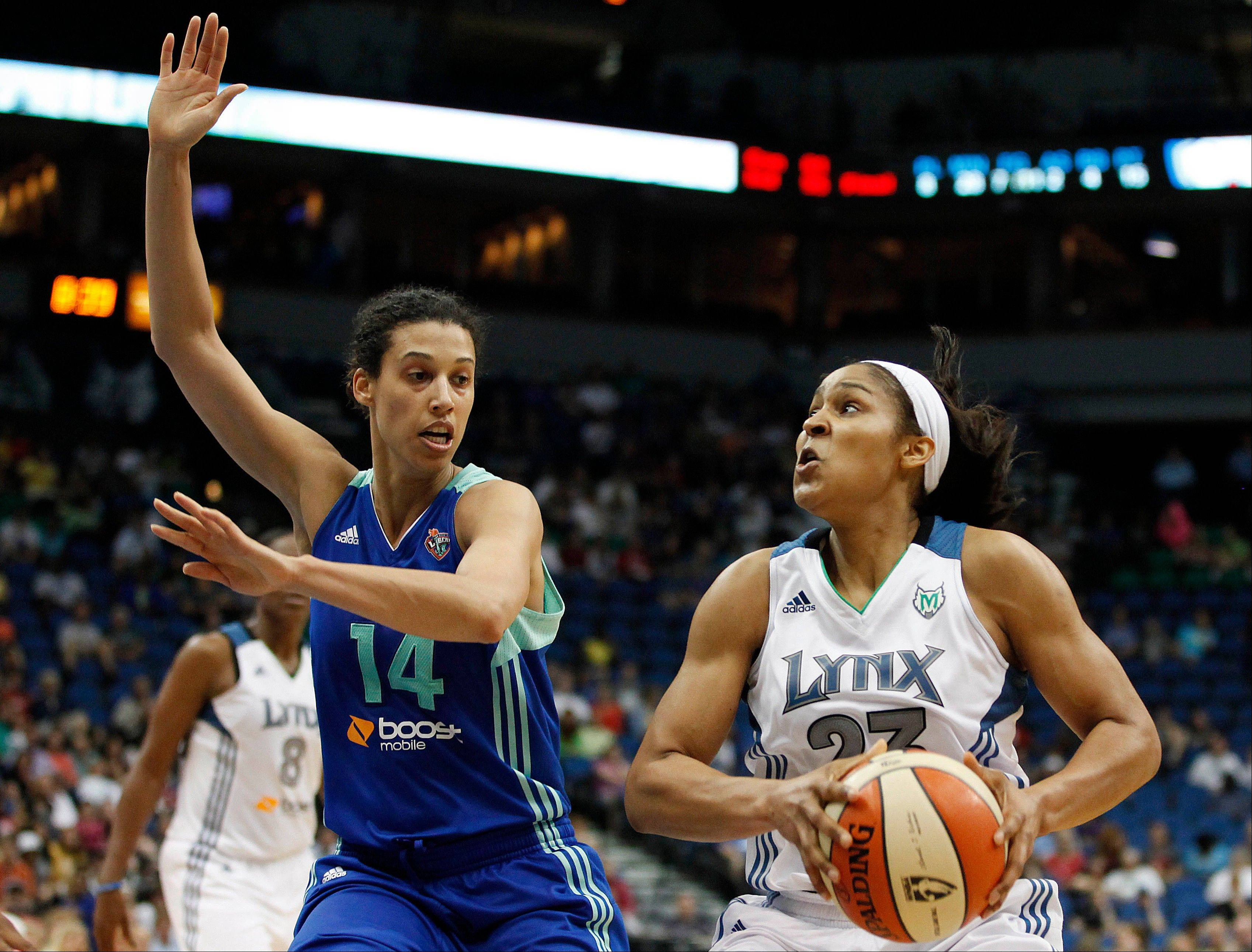 The Chicago Sky travels to Minnesota to take on the 11-1 Lynx and forward Maya Moore (23) in a nationally televised game Saturday. The Sky, however, will be without leading scorer Epiphanny Prince, who will miss 6-8 weeks with a broken right foot.