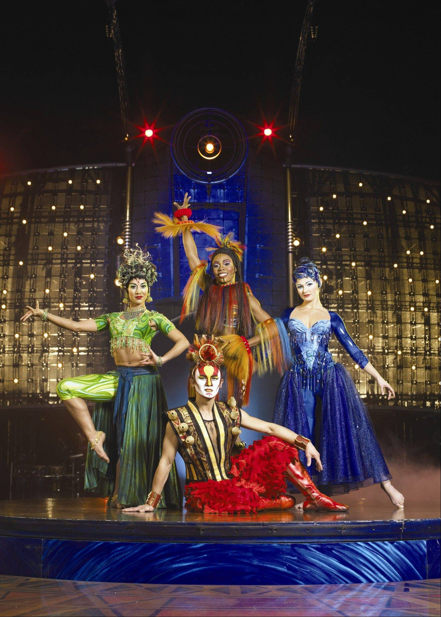"Cirque du Soleil's ""Dralion"" features dancers and acrobats to personify the four elements of water, earth, air and fire. The arena-scaled version of the show returns to the Windy City area with engagements at the Allstate Arena in Rosemont and the United Center in Chicago."
