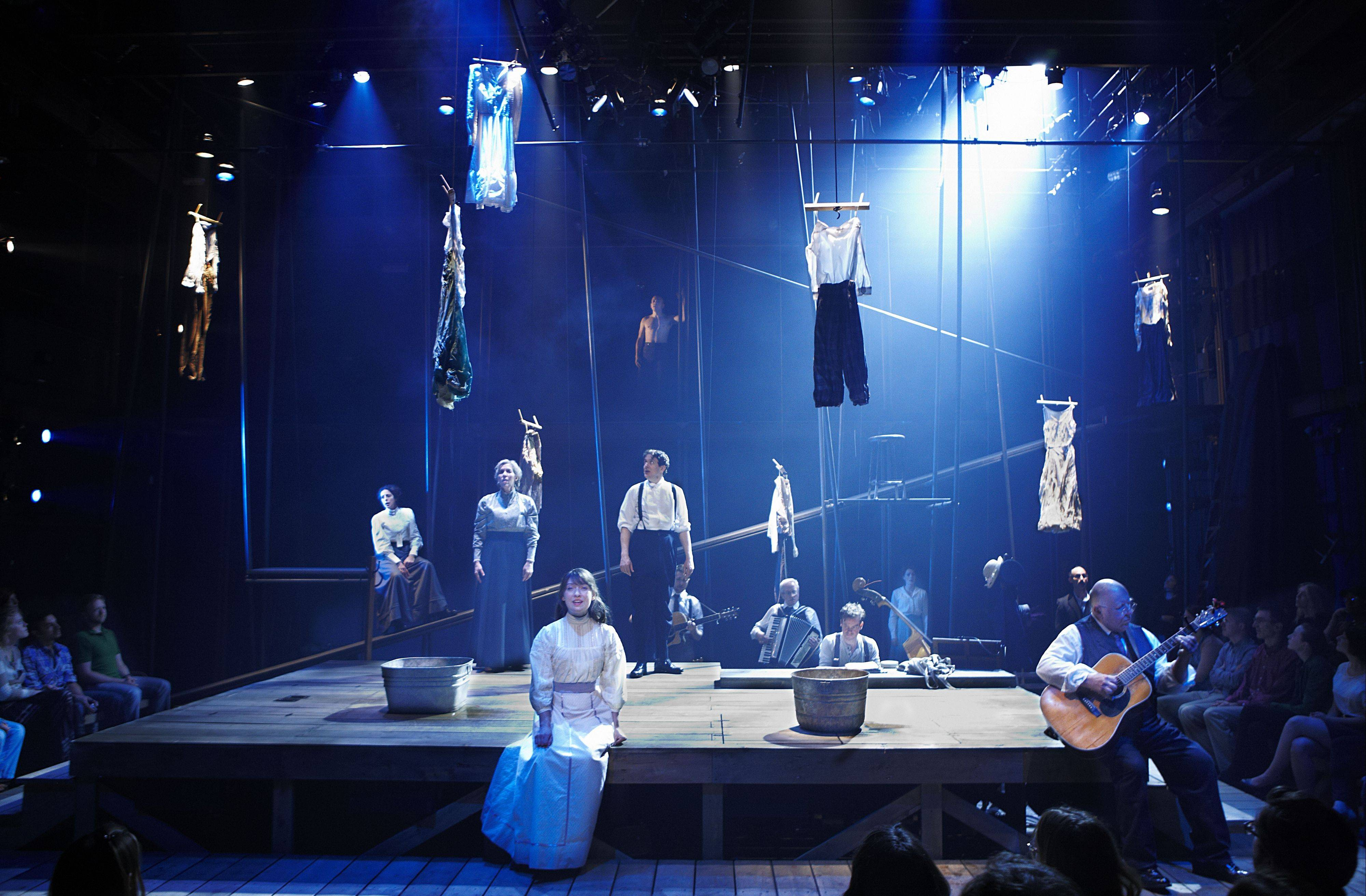 "Lookingglass Theatre Company presents the world premiere of ""Eastland: A New Musical"" about the 1915 capsizing of the Lake Michigan excursion boat that claimed the lives of more than 800 people, most of them Western Electric Company employees."