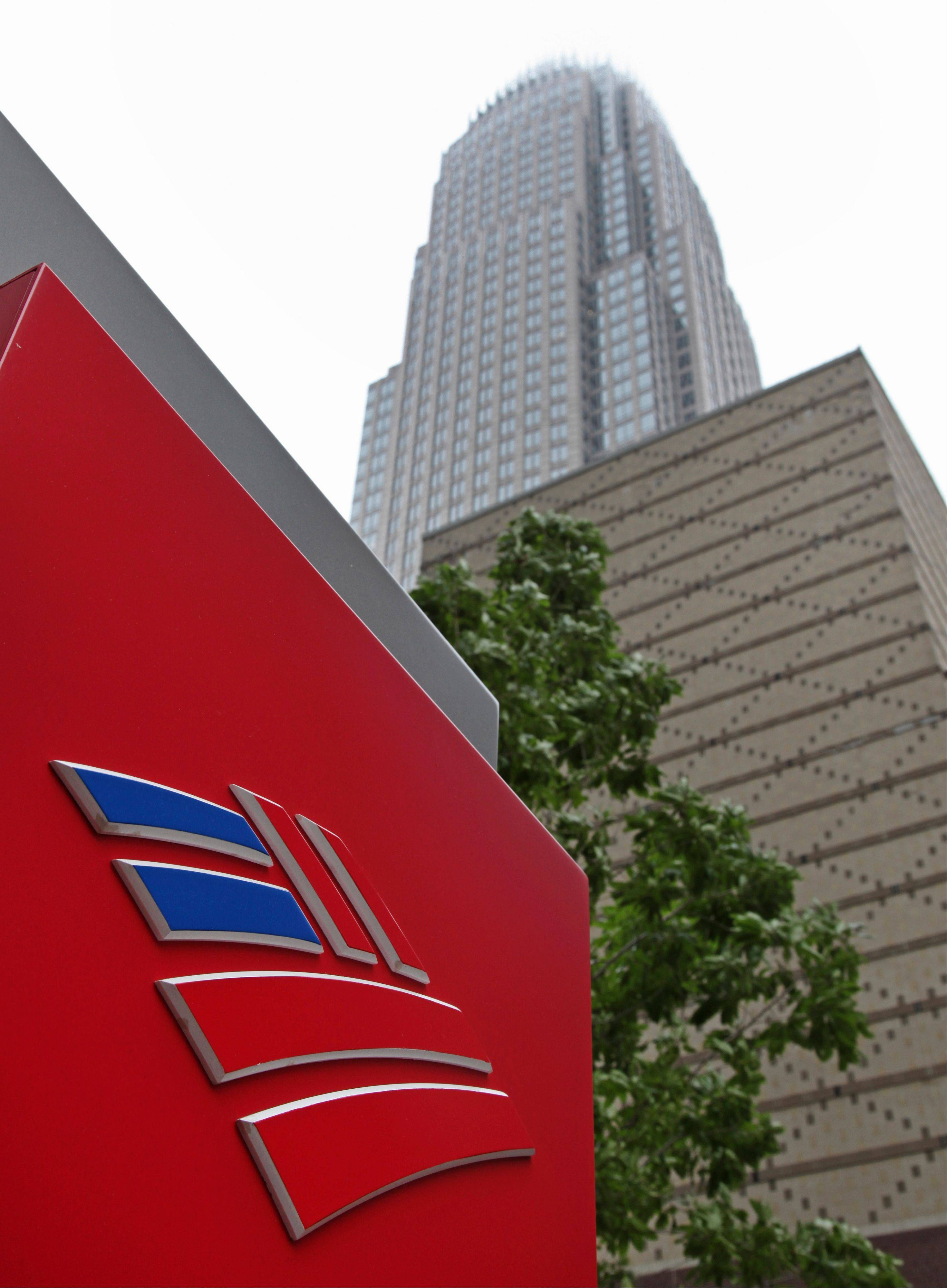 Associated Press/April 19, 2012Bank of America's corporate headquarters in Charlotte, N.C. Moody's Investors Service lowered the credit ratings on some of the world's biggest banks, including Bank of America, but it had little effect on opening stock prices Friday.