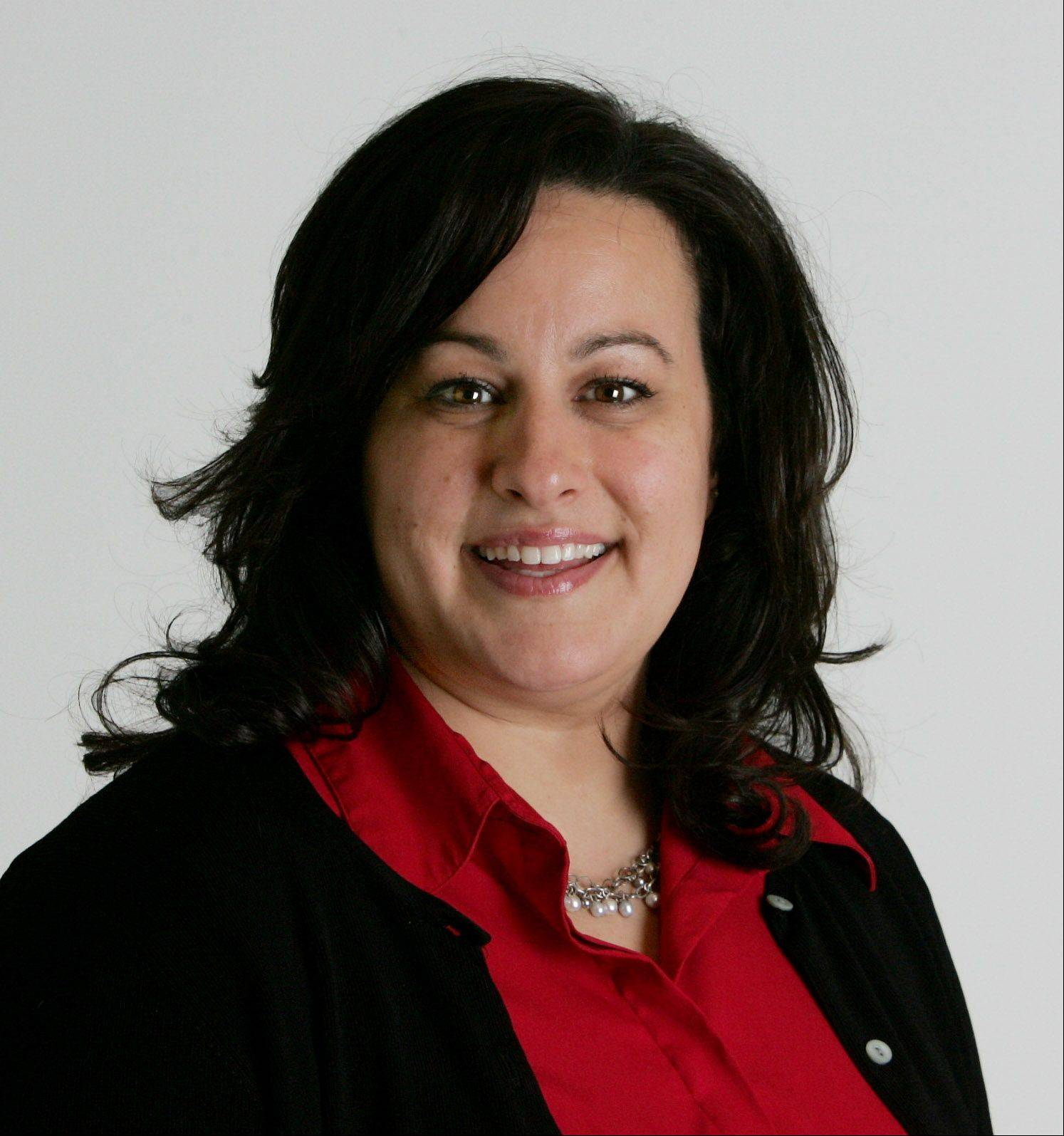 Island Lake Village Clerk Jen Gomez