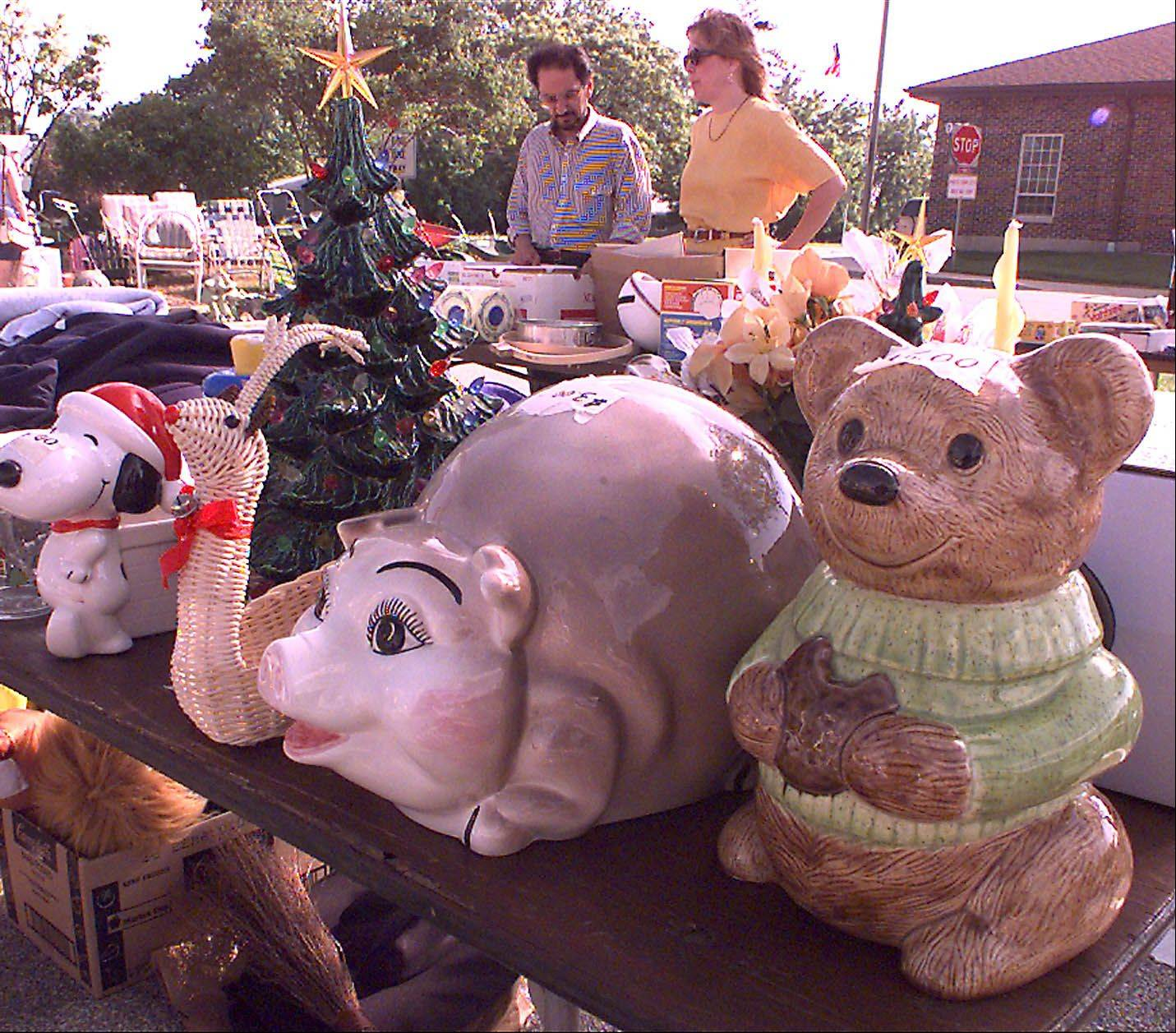 Shoppers never know what goodies and bargains they'll find at Lisle's annual Trash and Treasures sale.