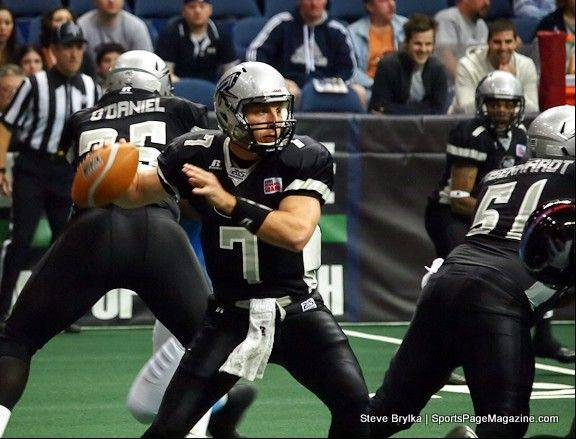 Rush backup QB Luke Drone gets some game time against the Kansas City Command.
