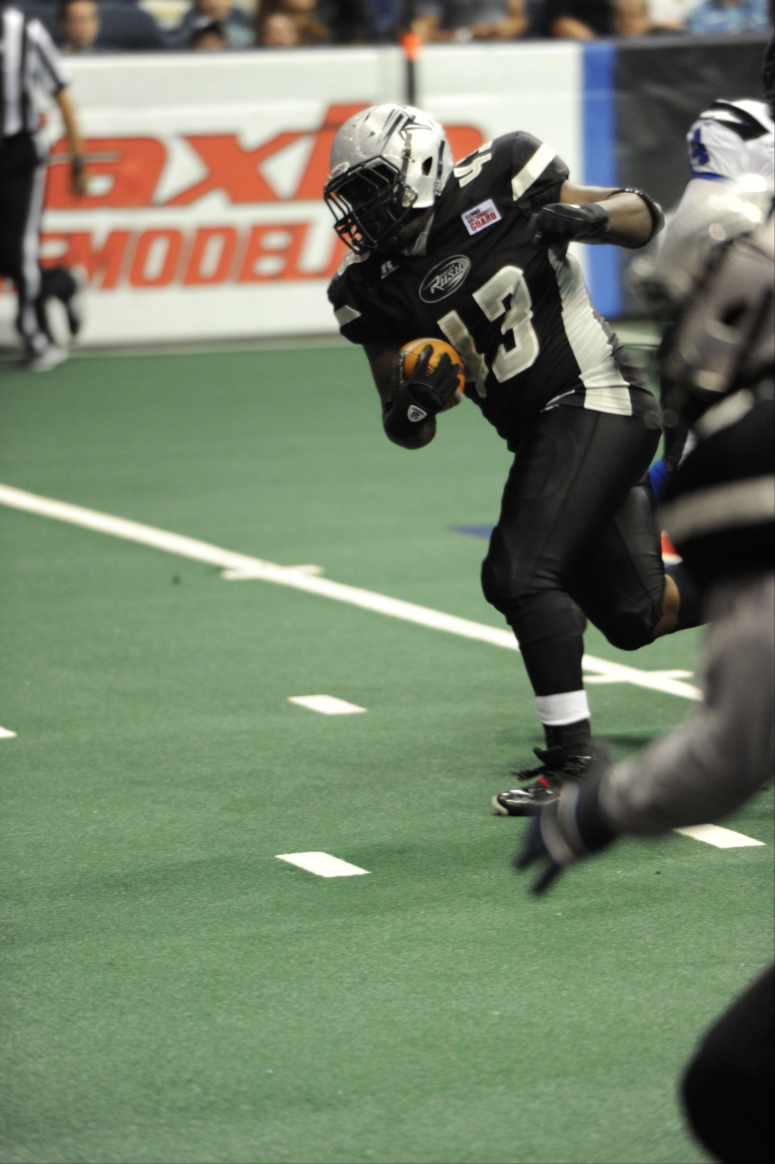 Rush full back J.J. Payne is ninth in the AFL in rushing with 43 carries for 126 yards and four touchdowns.