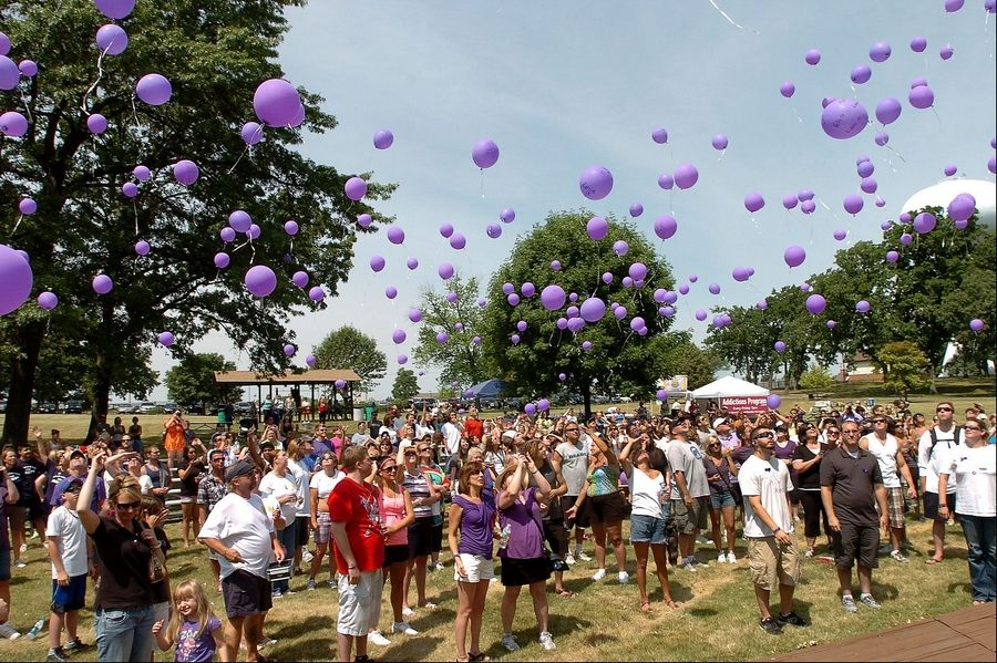 A ceremonial balloon launch where families and friends wrote names on balloons of their loved ones who died of heroin overdoses was held before the Take a Stand 5k walk for heroin awareness.
