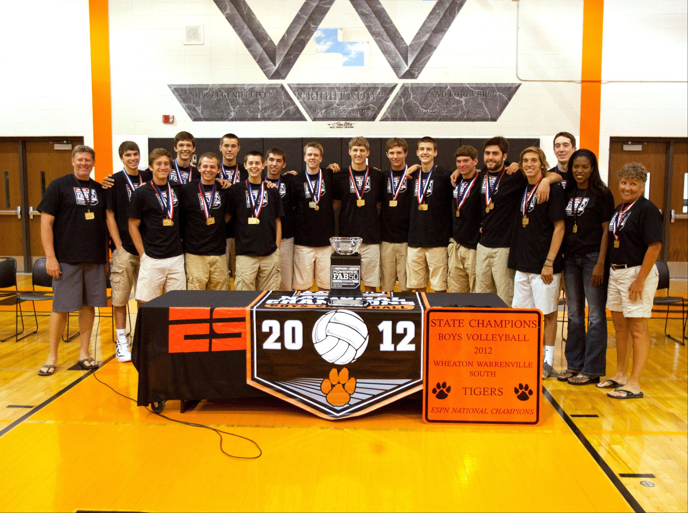 The Wheaton Warrenville South boys volleyball team were awarded a national title Friday by ESPNHS. The high school is the first in Illinois to receive such accolades.
