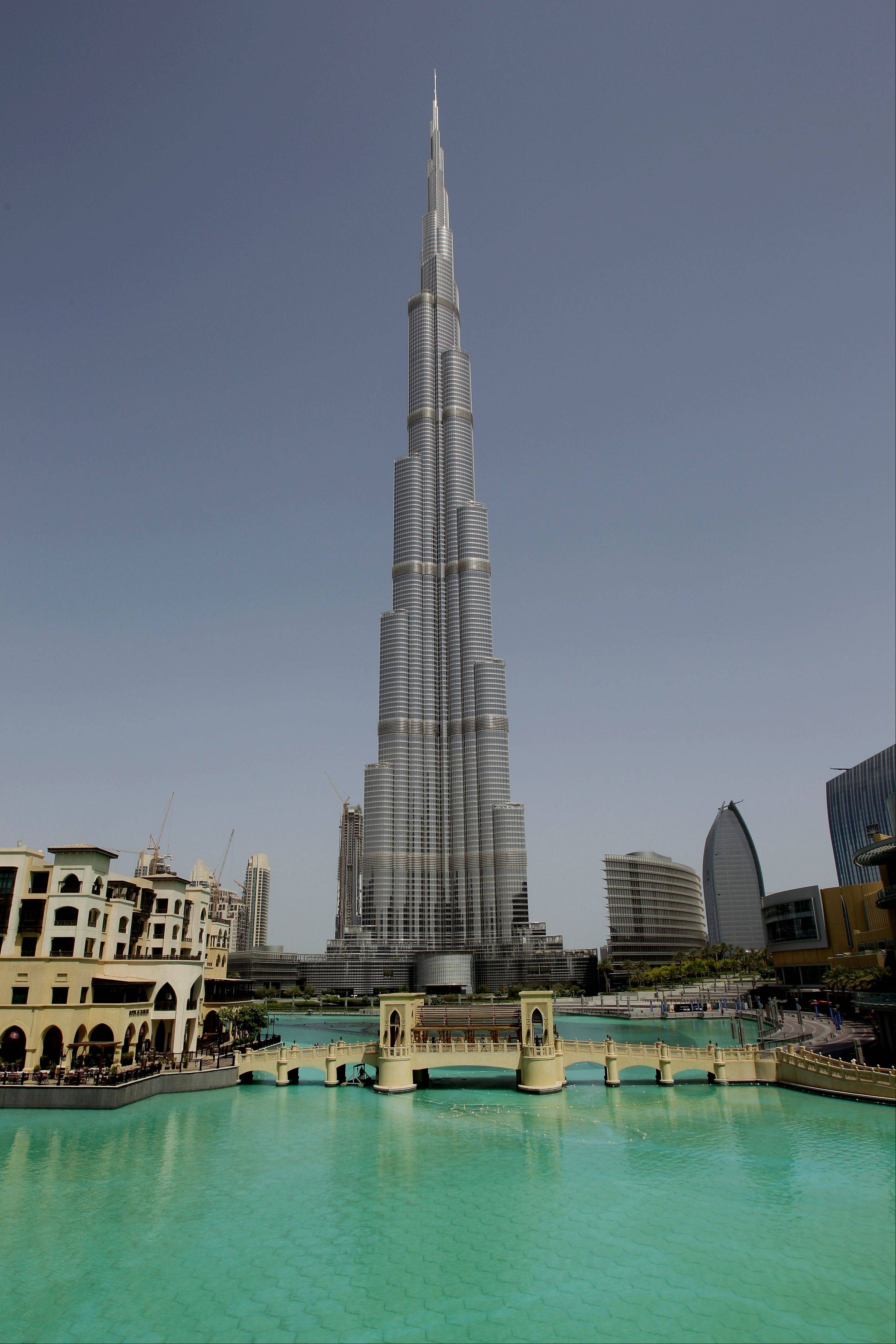 The world's tallest building, Burj Khalifain, is a popular attraction in Dubai.