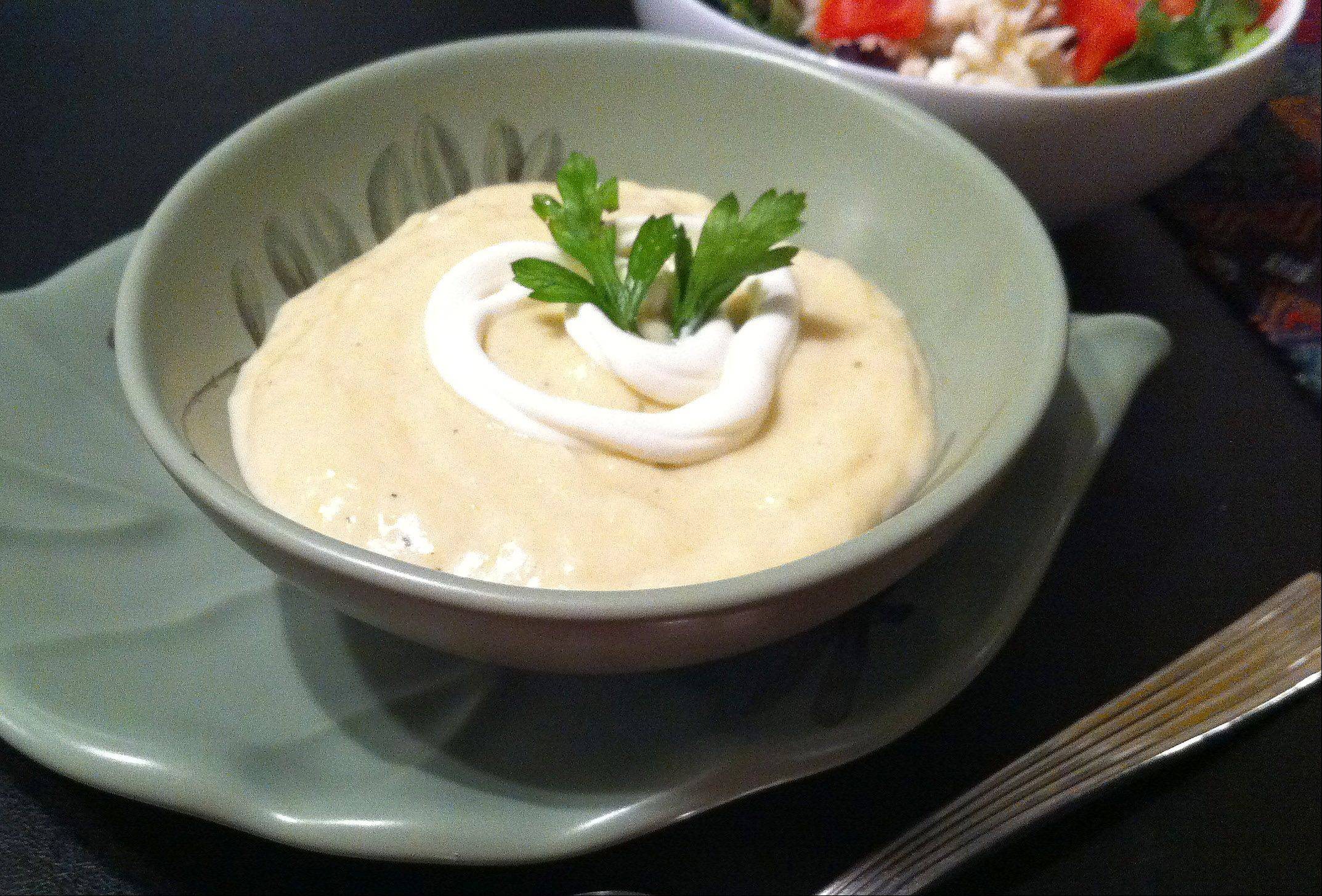 Vichyssoise, or as you might say, cold potato soup, makes a refreshing and filling summer meal.