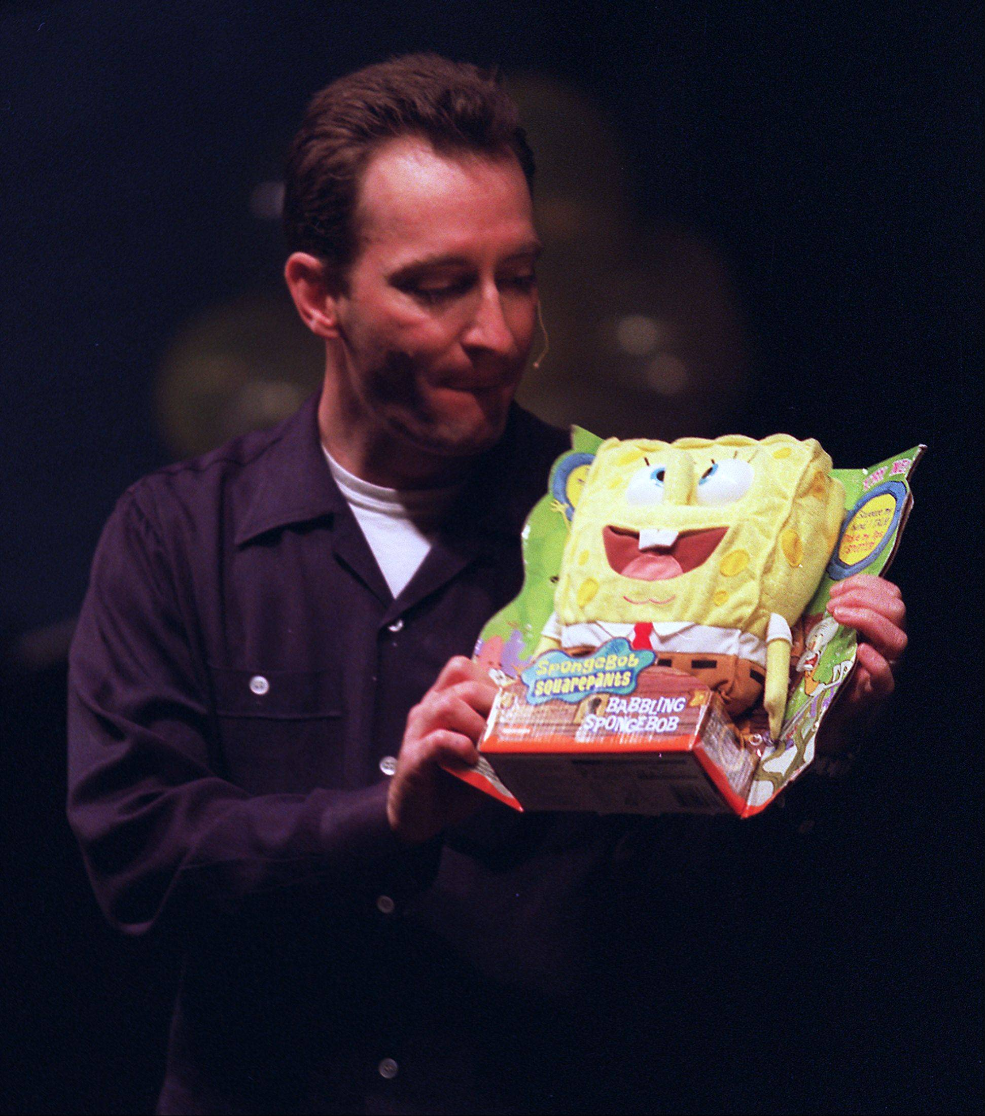 "Tom Kenny, the voice of ""Sponge Bob Square Pants,"" visited Harper in 2002."