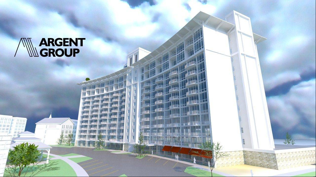 Here is a rendering of what the old Sheraton in Arlington Heights will look like when it is luxury apartments.