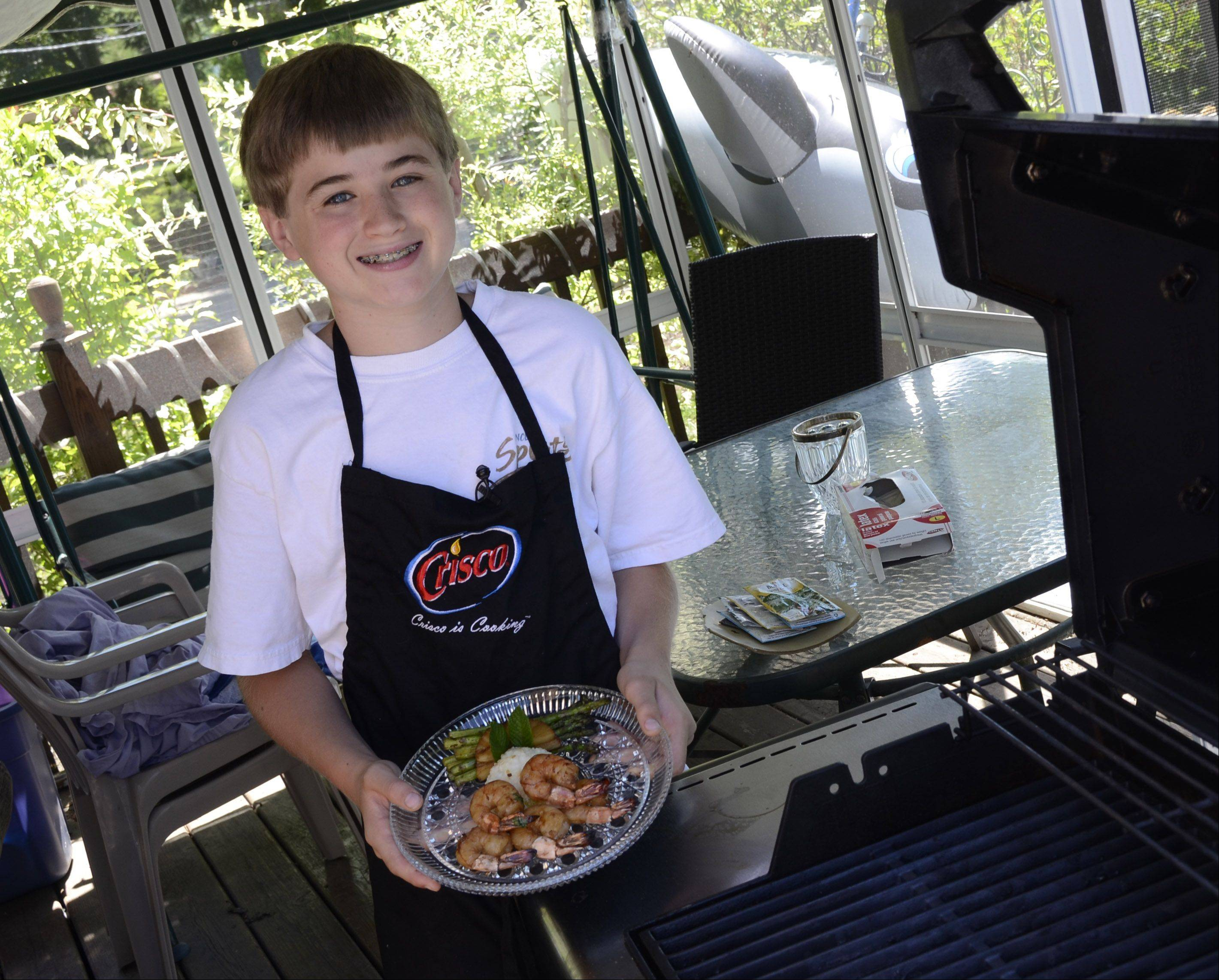 At 13, Steven Buchholz of Arlington Heights can give cooks three times his age a run for their money. He has won a national award for his pie and creates delicious family meals.