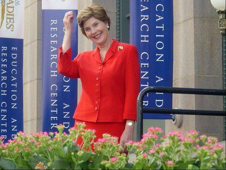 Laura Bush at the First Ladies' National Library.
