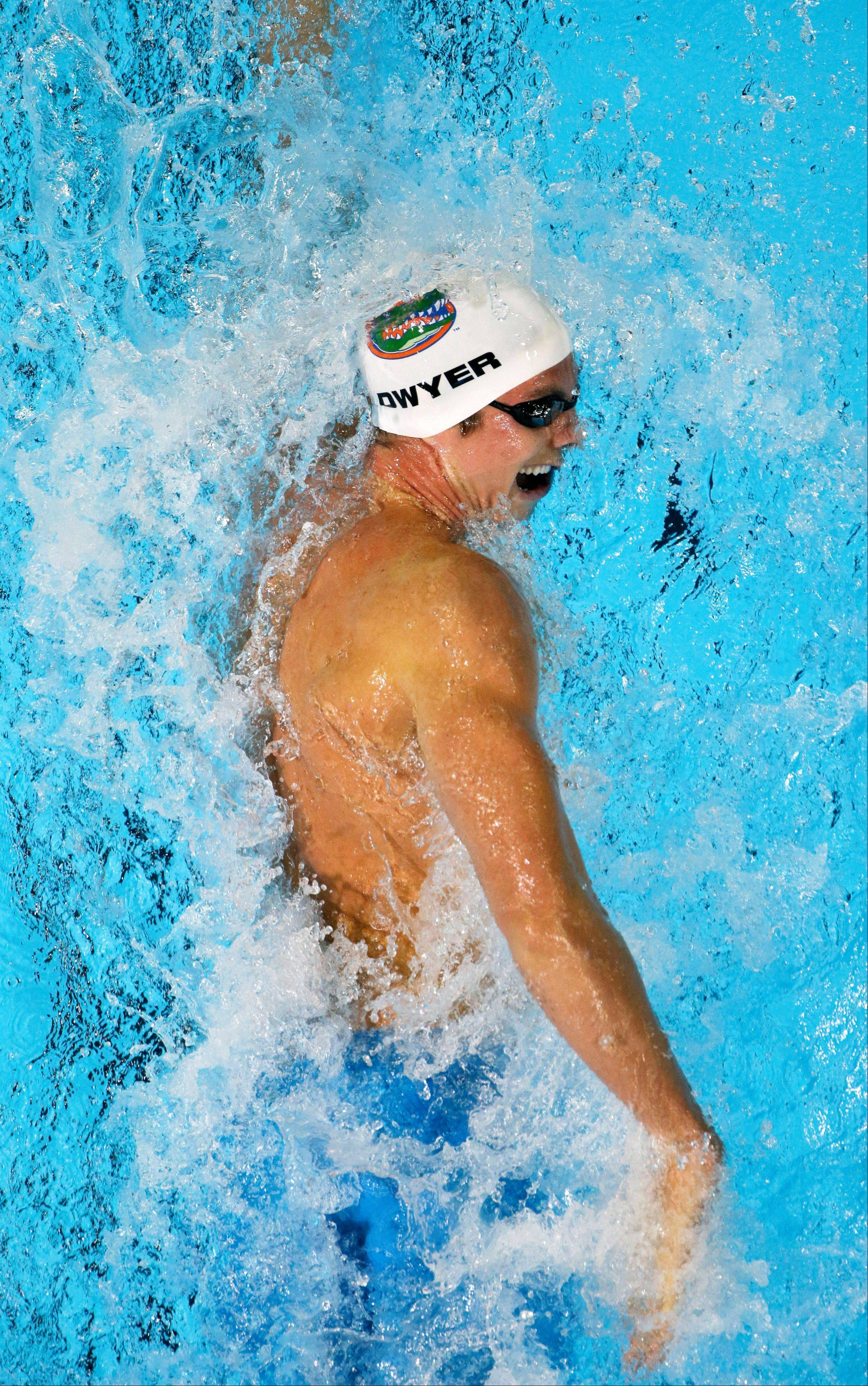 Conor Dwyer swims in the men's 200-meter freestyle preliminaries at the U.S. Olympic swimming trials Tuesday. In high school, Dwyer competed at Loyola Academy; he advanced to the championship heat of the event and already made the U.S. Olympic team in the 400 freestyle.