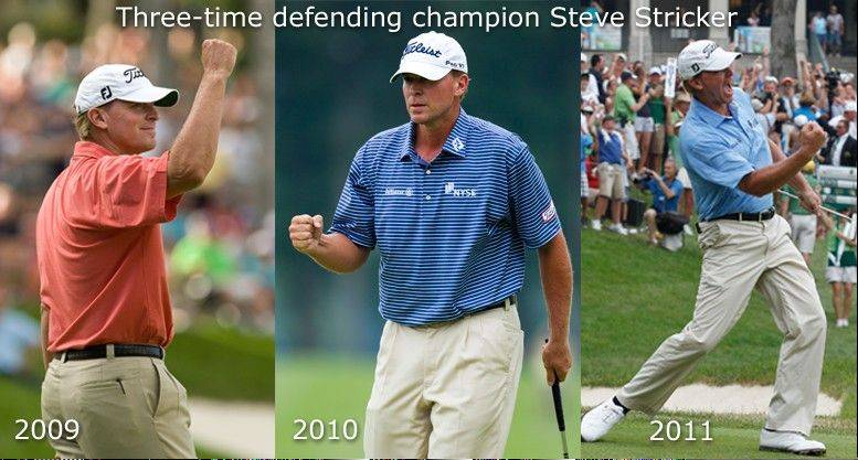 Steve Stricker seeks to become the fourth player in PGA history to win a single event four straight times when he tees off for the 2012 John Deere Classic in Silvis, Ill.
