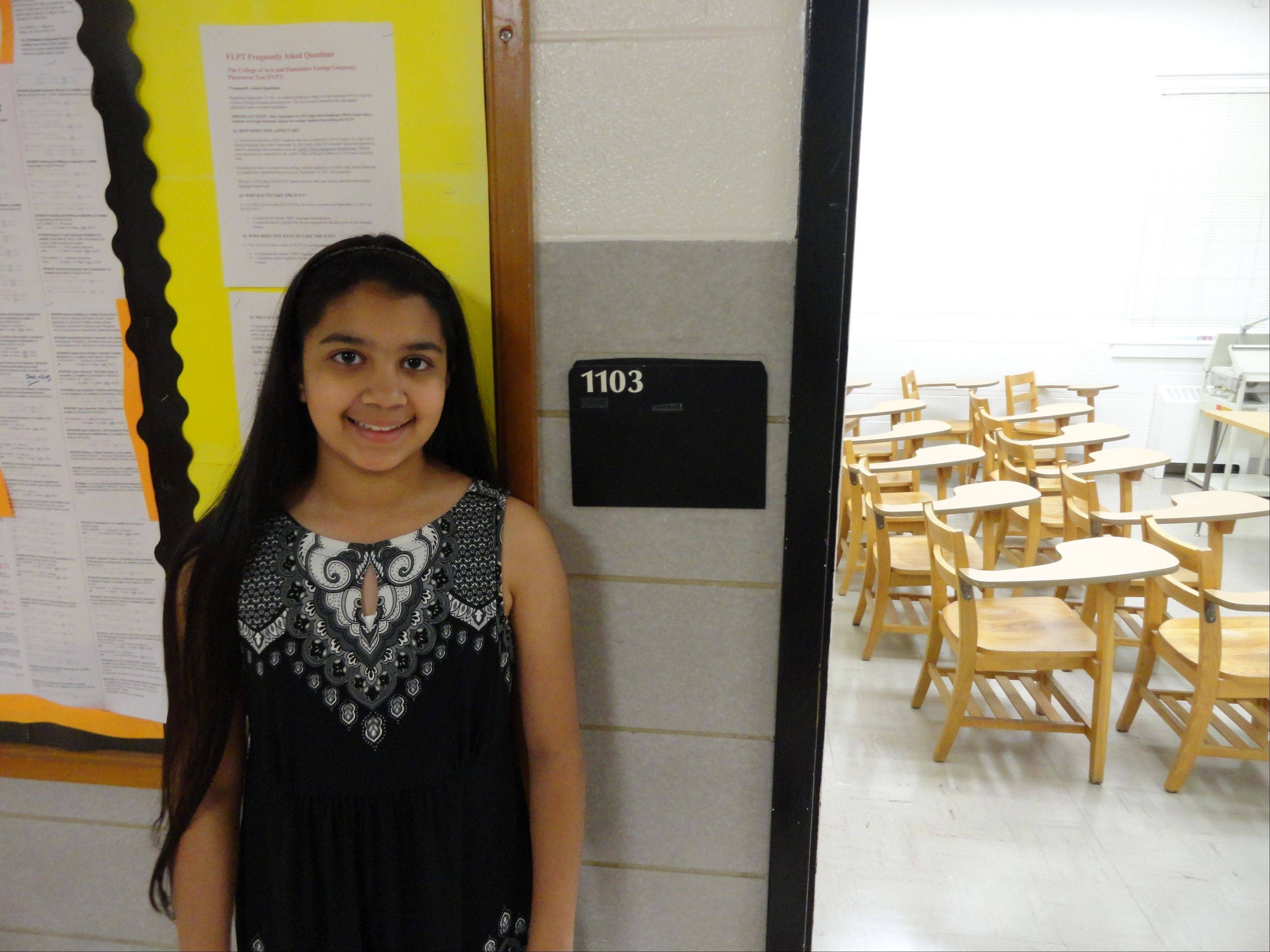 Mead eighth-grader Aarushi Shah, winner of the Junior Division at the National History Day Competition.