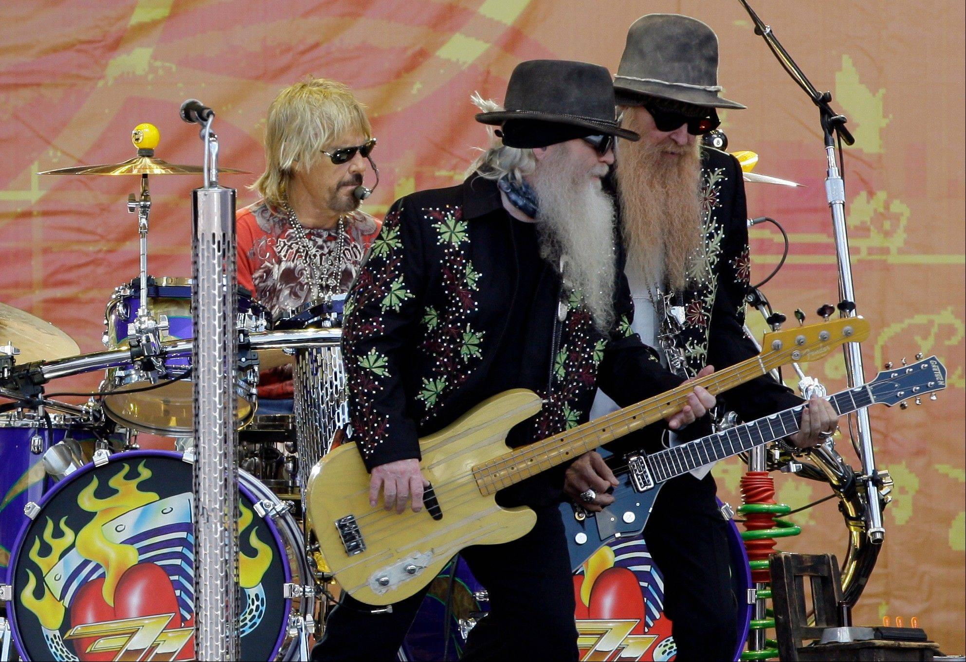 ZZ Top headlines the main Ribfest stage on Sunday, July 1.