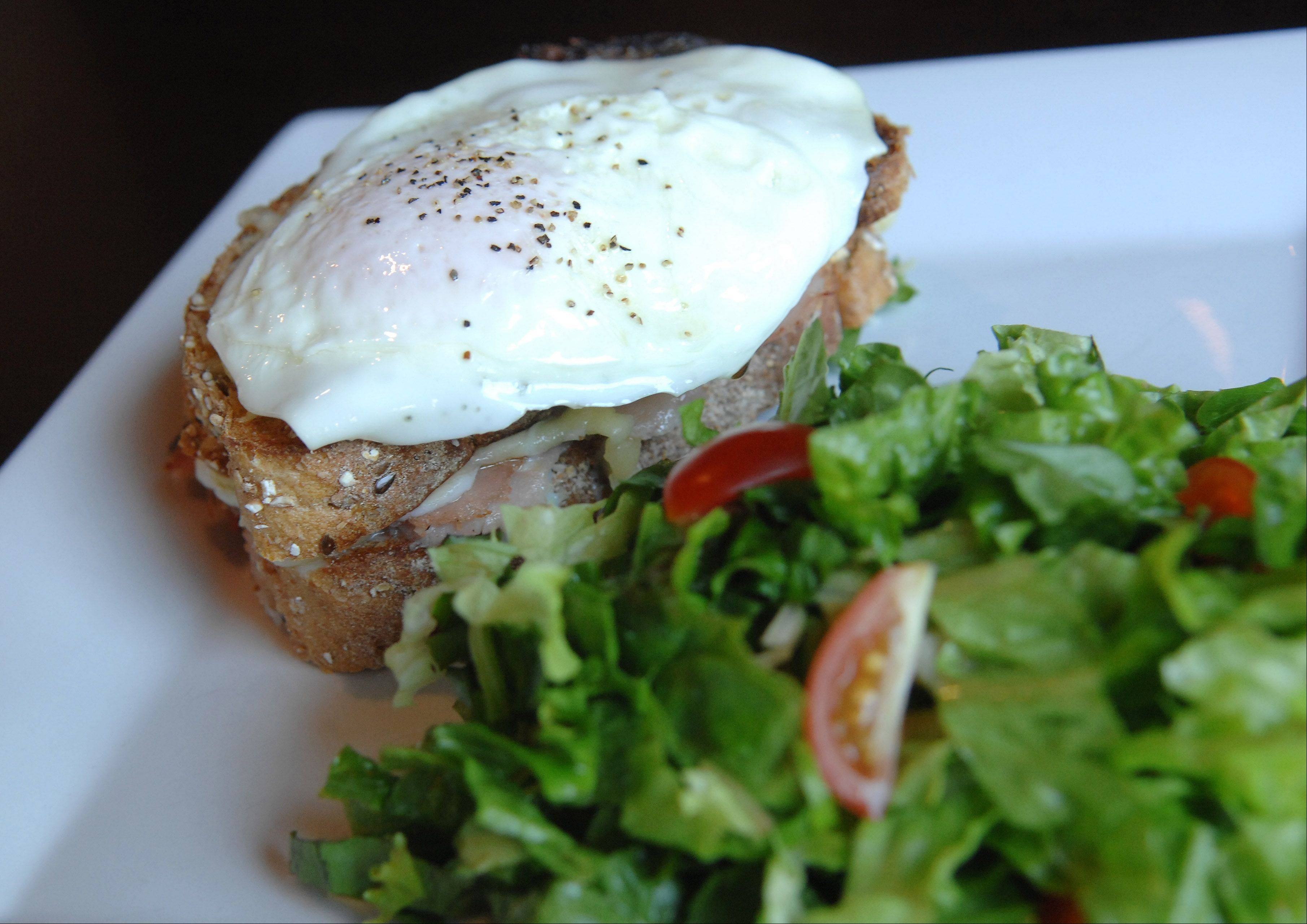 The Croque Madame sandwich at Chez Moi in Geneva is fitting for breakfast or lunch.