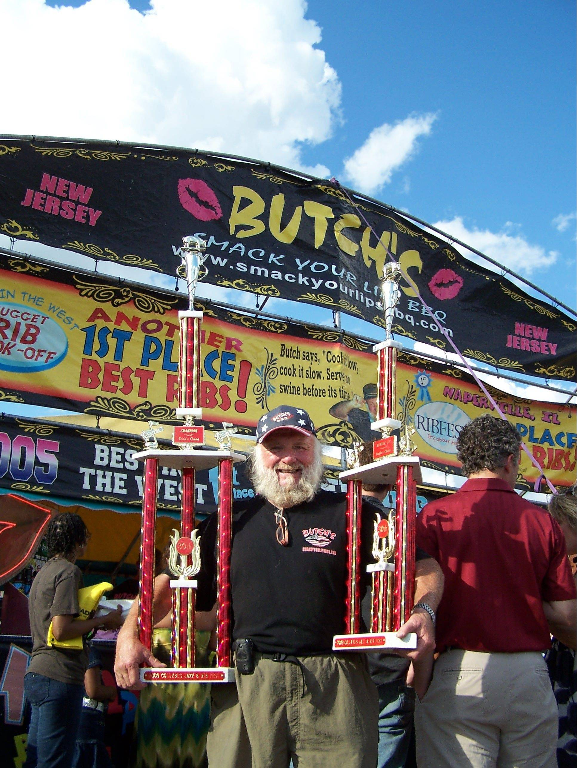 Alyson Lupinetti, Butch's Smack Your Lips BBQ, said she has some big shoes to fill -- those of her father, pictured in 2009, who started the business and won more than 600 awards in his career.