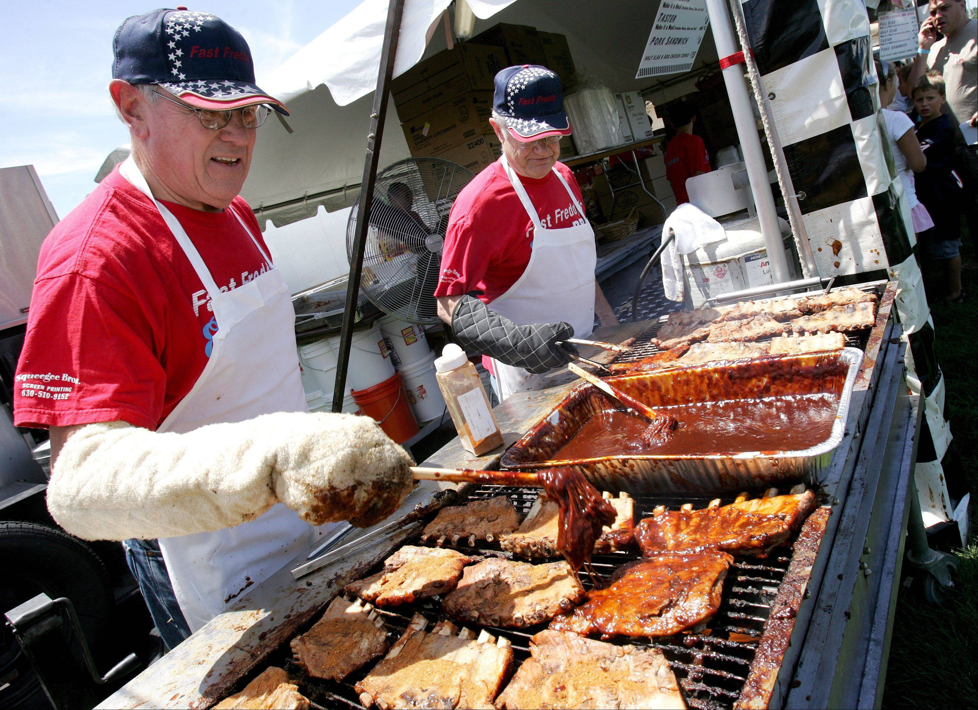 The Naperville Exchange Club's Ribfest is one of the suburbs' biggest and most popular July 4 festivals.
