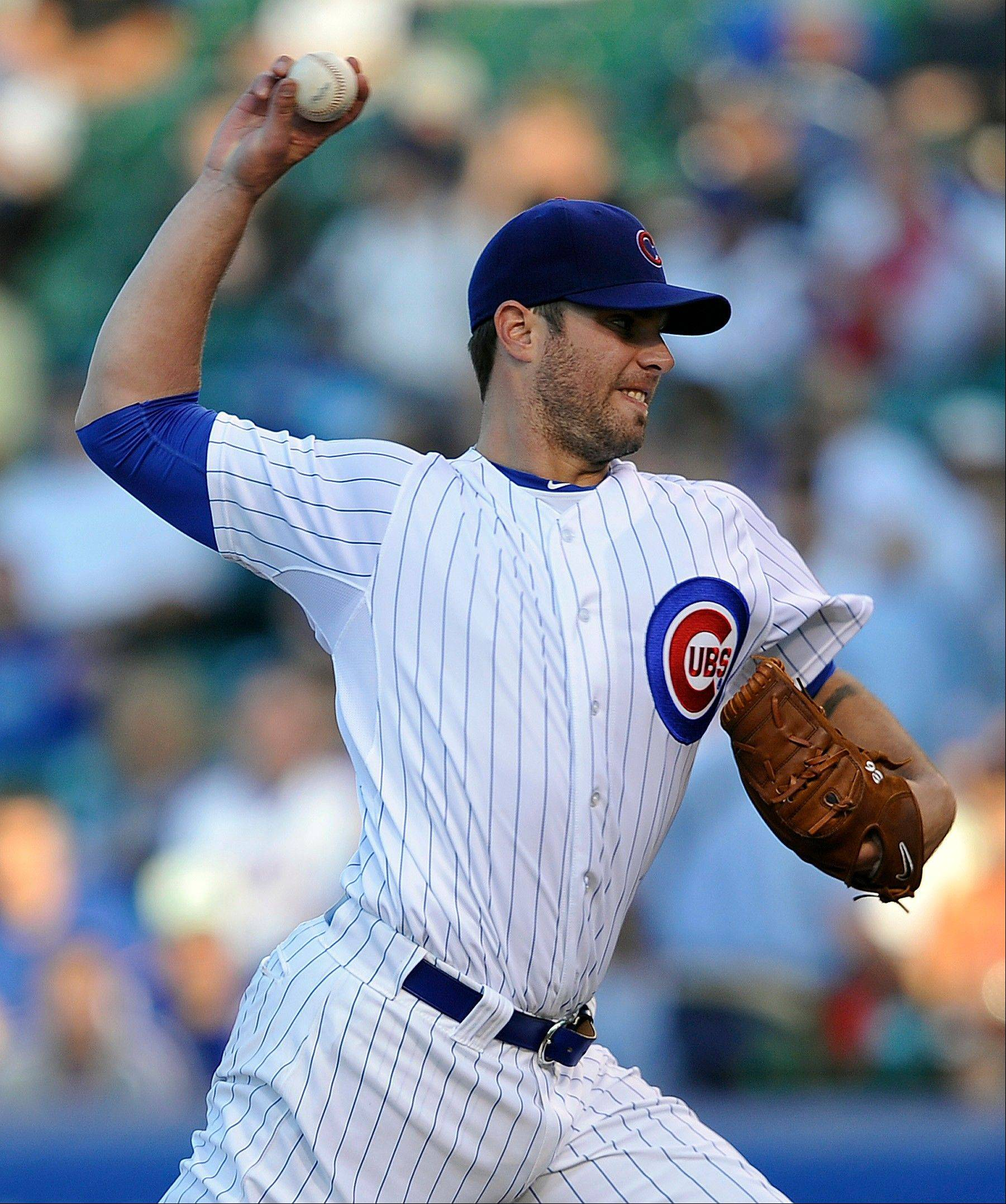Randy Wells had an 0-2 record with a 7.04 ERA in 4 starts with the Cubs this season.