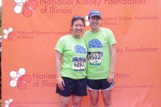 (l-r) Amanda Yee and Jessica Yee of Naperville participated with Team Baxter in the National Kidney Foundation of Illinois' 13th Annual Gift of Life Walk, Run and Roll in honor of their father who is waiting for a kidney transplant and receives dialysis treatment at Fresenius Dialysis Center in Naperville.