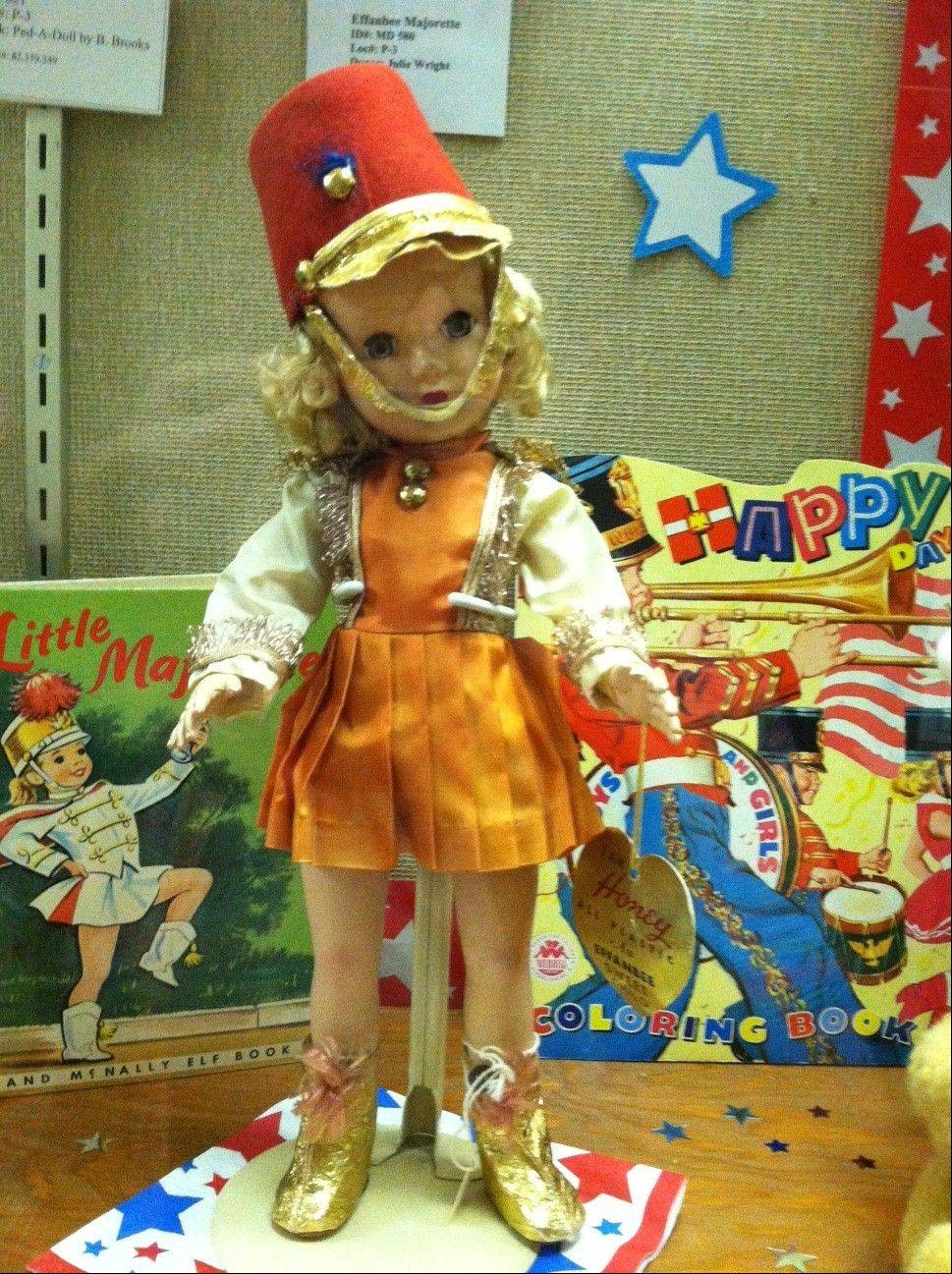 """Effanbee Majorette"" is one of the many dolls on display with a circus theme."