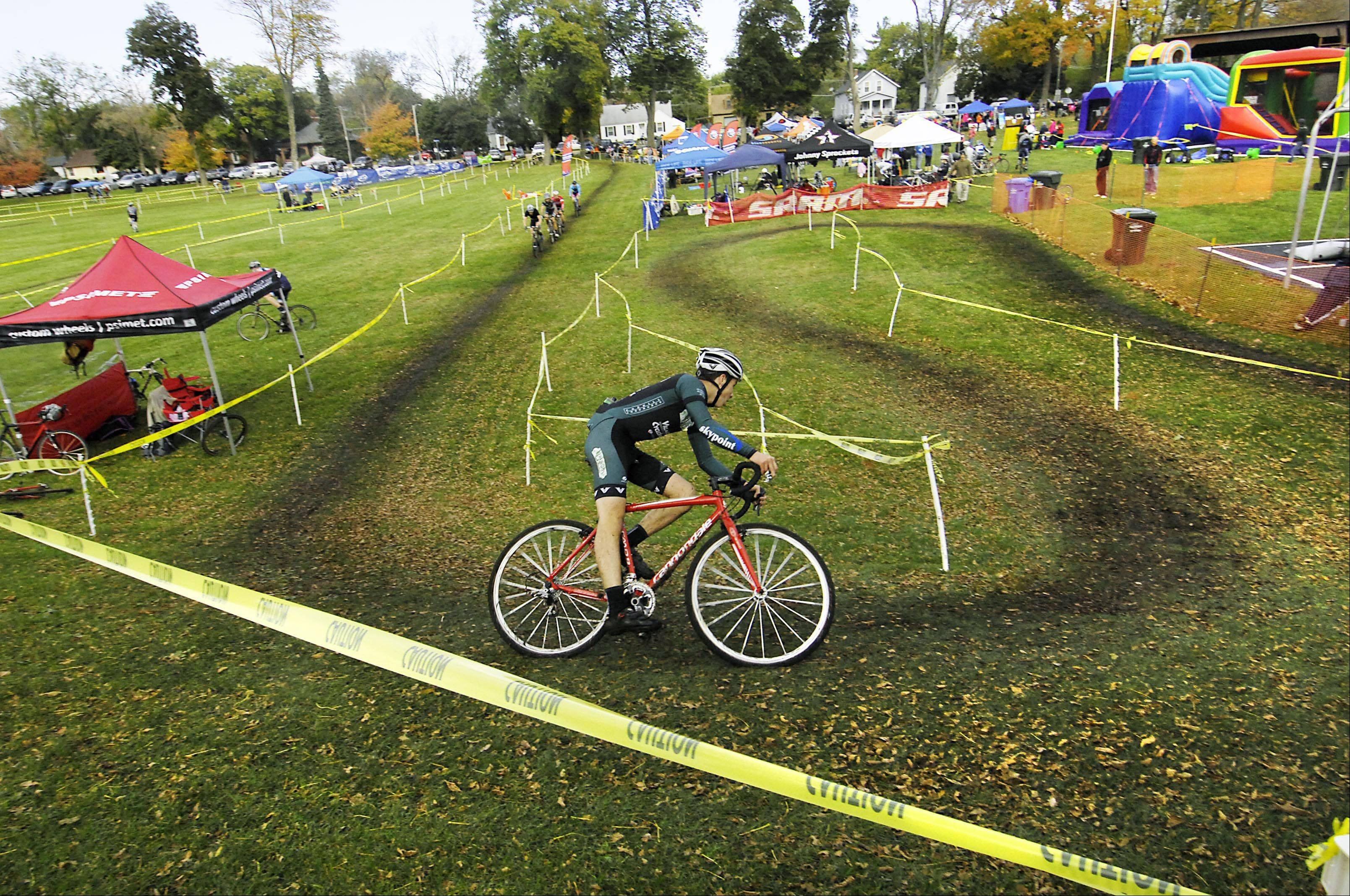 David Lombardo, 16, competes in last year's Chicago Cyclocross Cup race in Carpentersville. The 16-year-old from Crystal Lake is the reigning state champion in his age group and earlier this year placed seventh in the national finals.