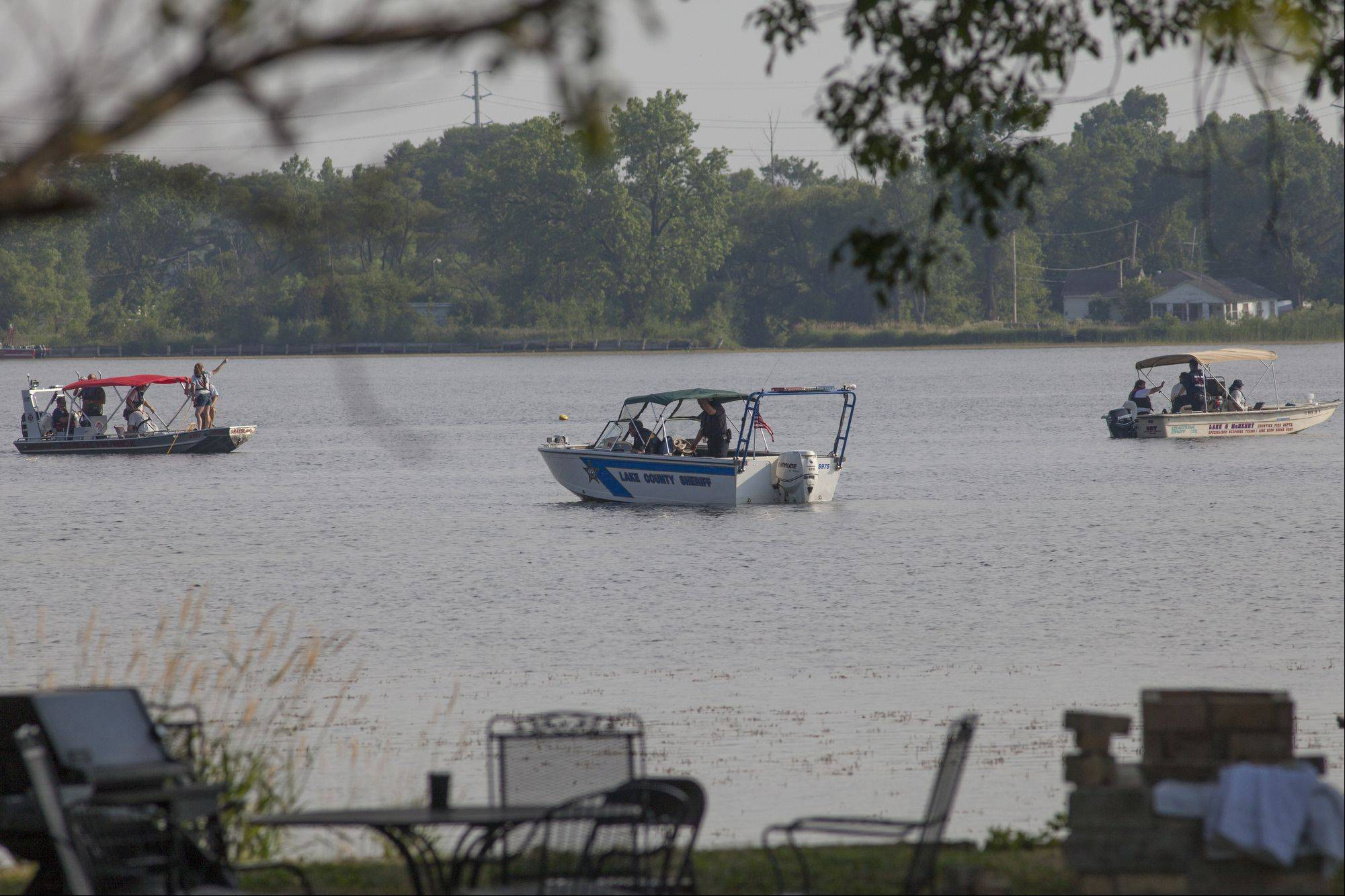 Crews used sonar technology to search for the missing man's body in Loon Lake on Thursday.