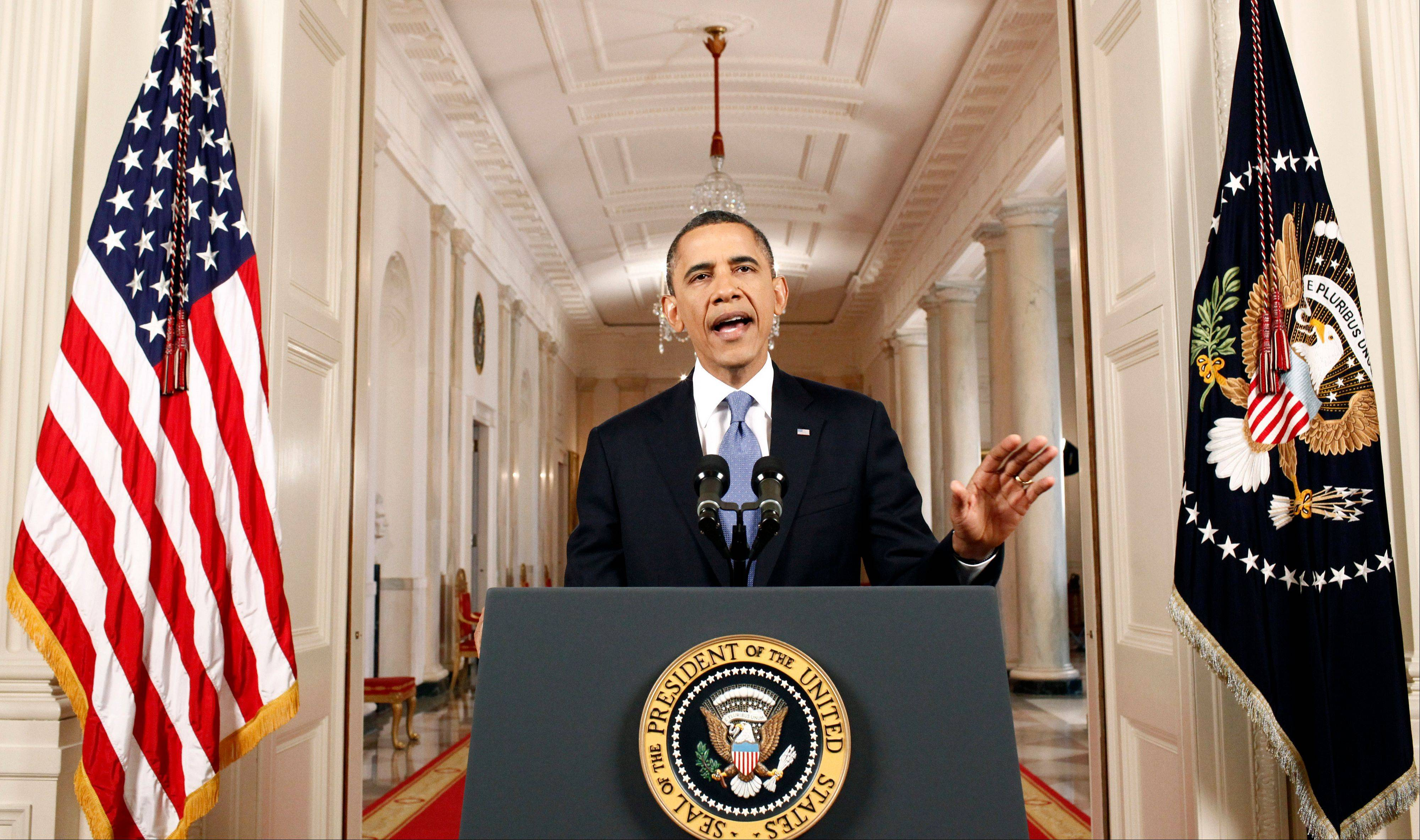 President Barack Obama speaks in the East Room of the White House in Washington, Thursday, June 28, 2012, after the Supreme Court ruled on his health care legislation.