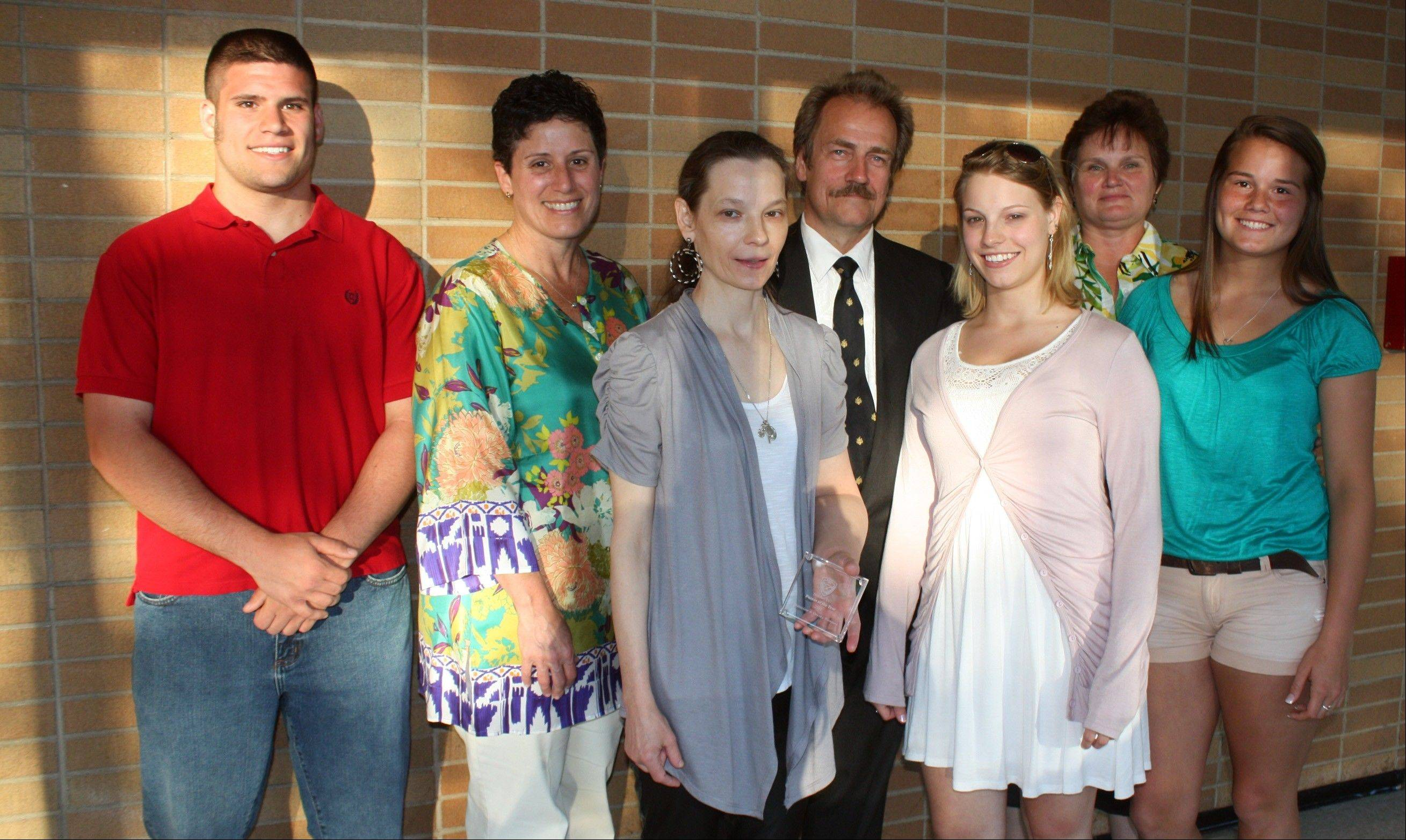 Pictured, from left: Michael White; Patricia Varco-White; Dorota, Stanislaw and Jessica Bieniarz; and Julie and Sara Stepanovich.