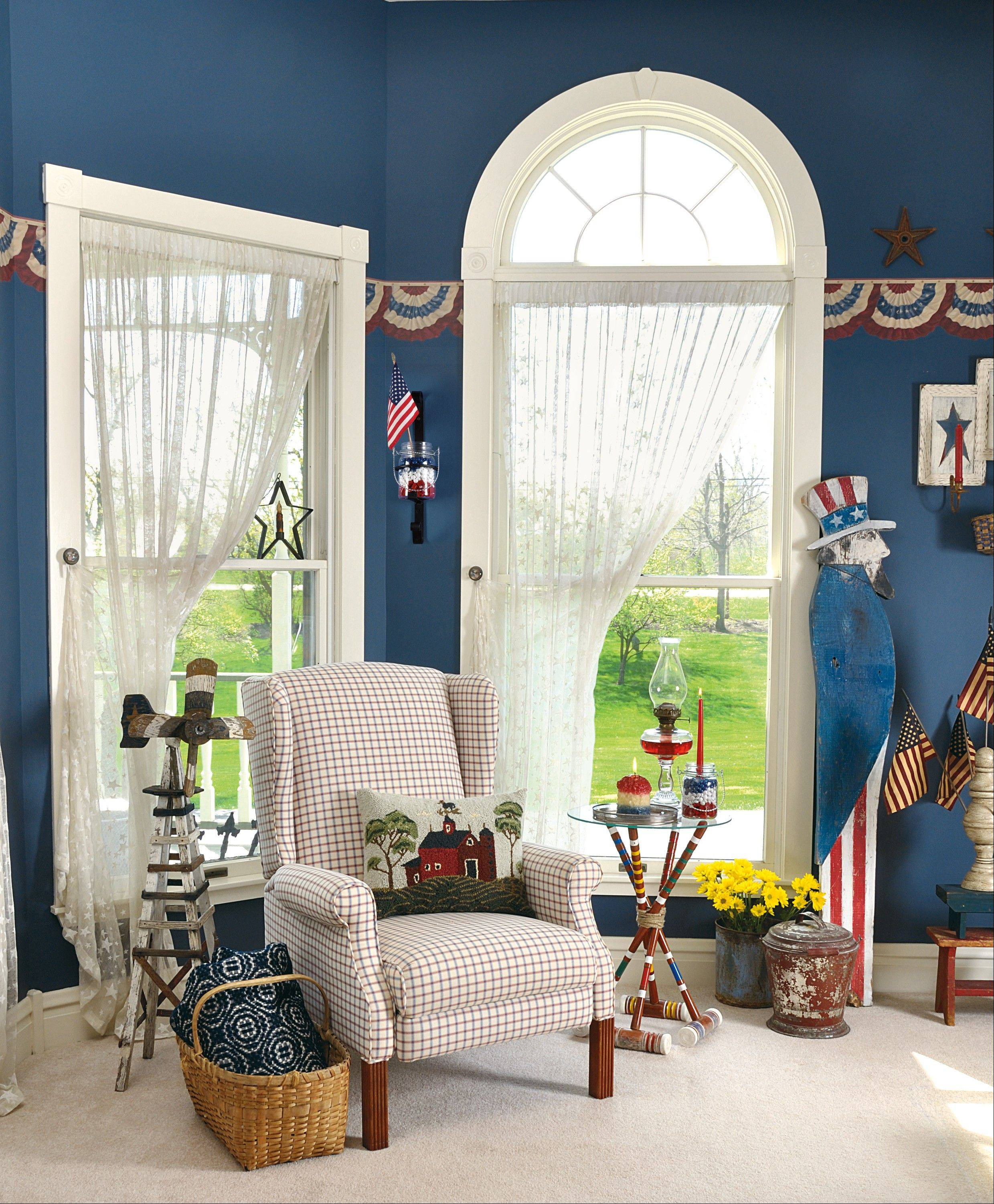 GAME CHANGER: Look for tips 3-6 to learn how Country Sampler stylists punched up the look in this room.