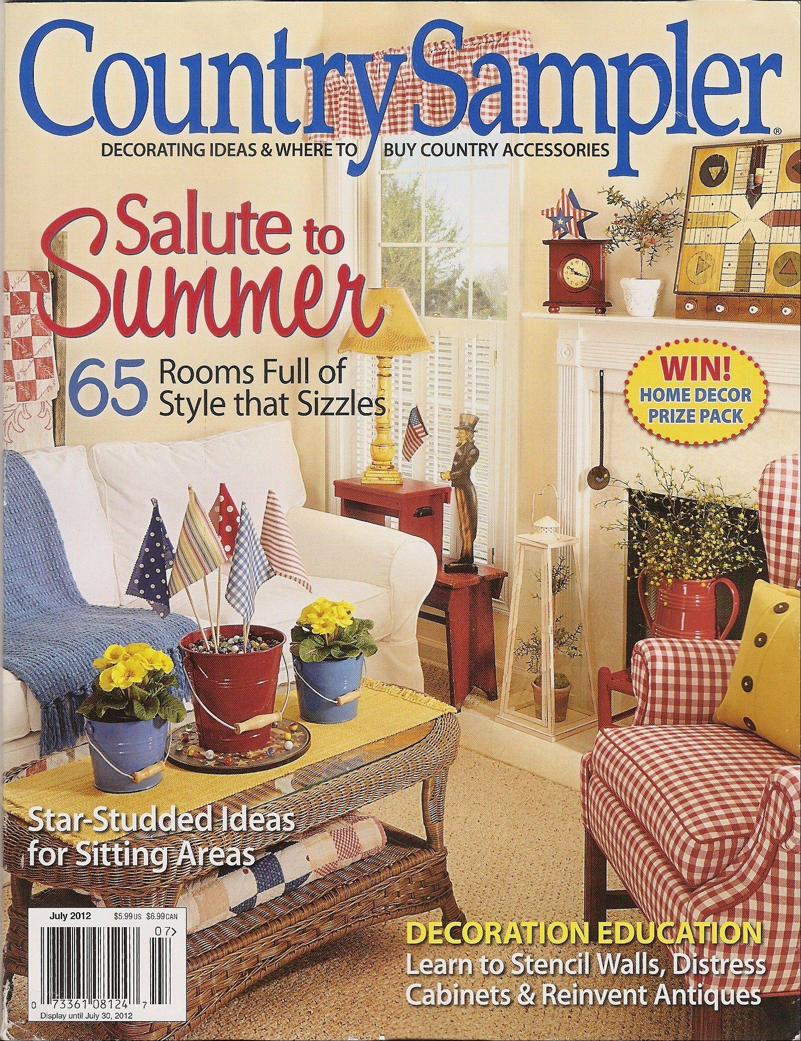 Country Sampler's July issue.