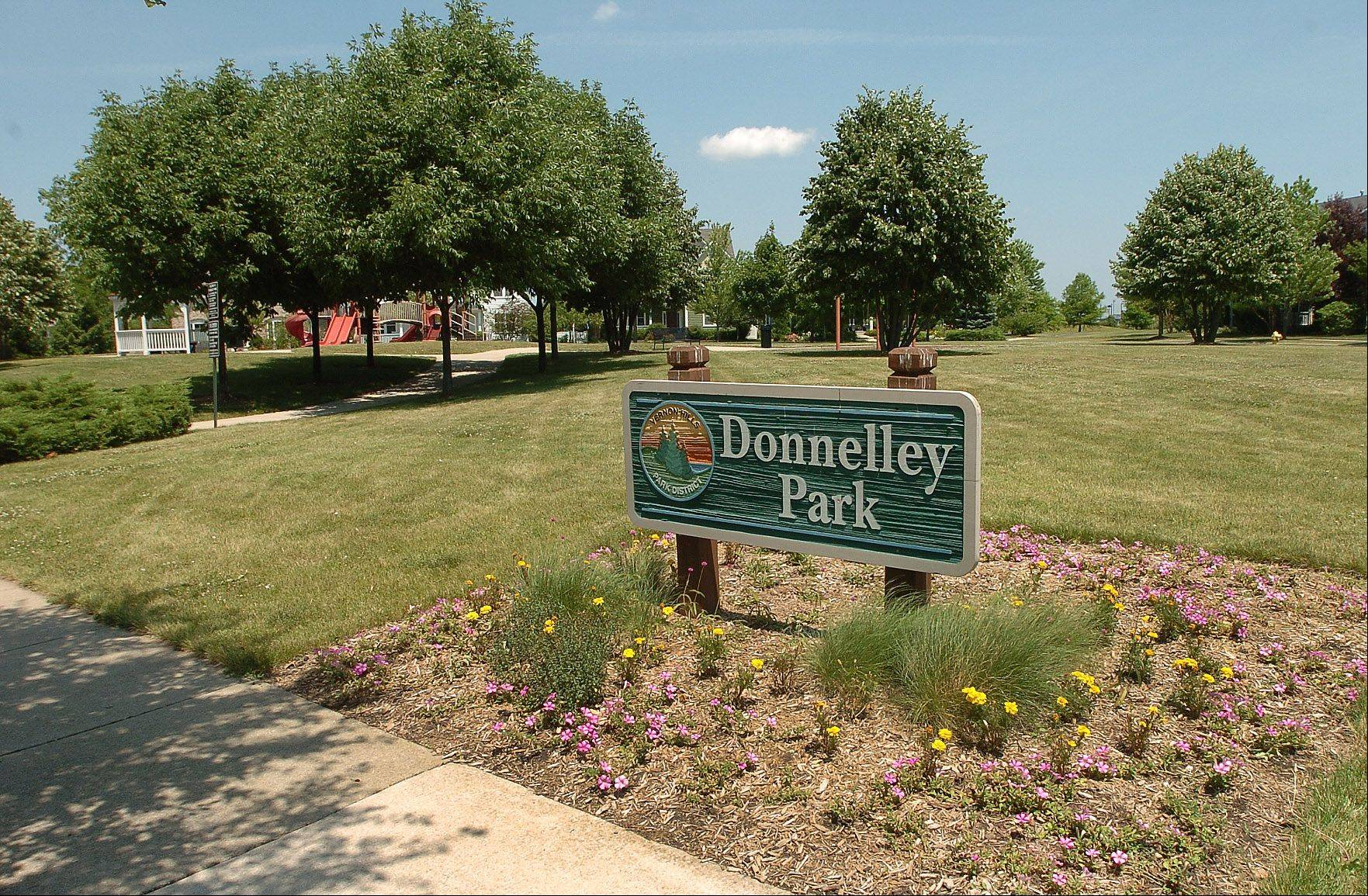 Donnelley Park is one of several parks and playgrounds in the Centennial Crossing neighborhood.