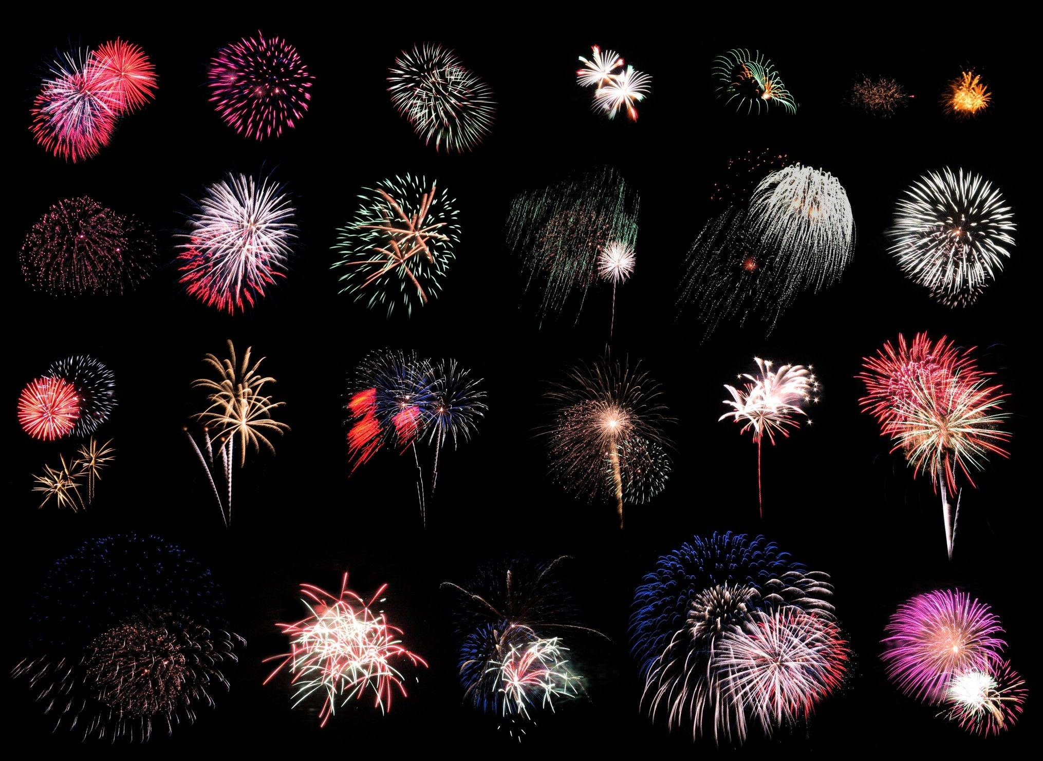 Colorful fireworks extravaganzas will take place in the suburbs to celebrate Independence Day.