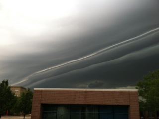 Dr. Kathy Borchardt took this picture this morning from outside her office in Warrenville.