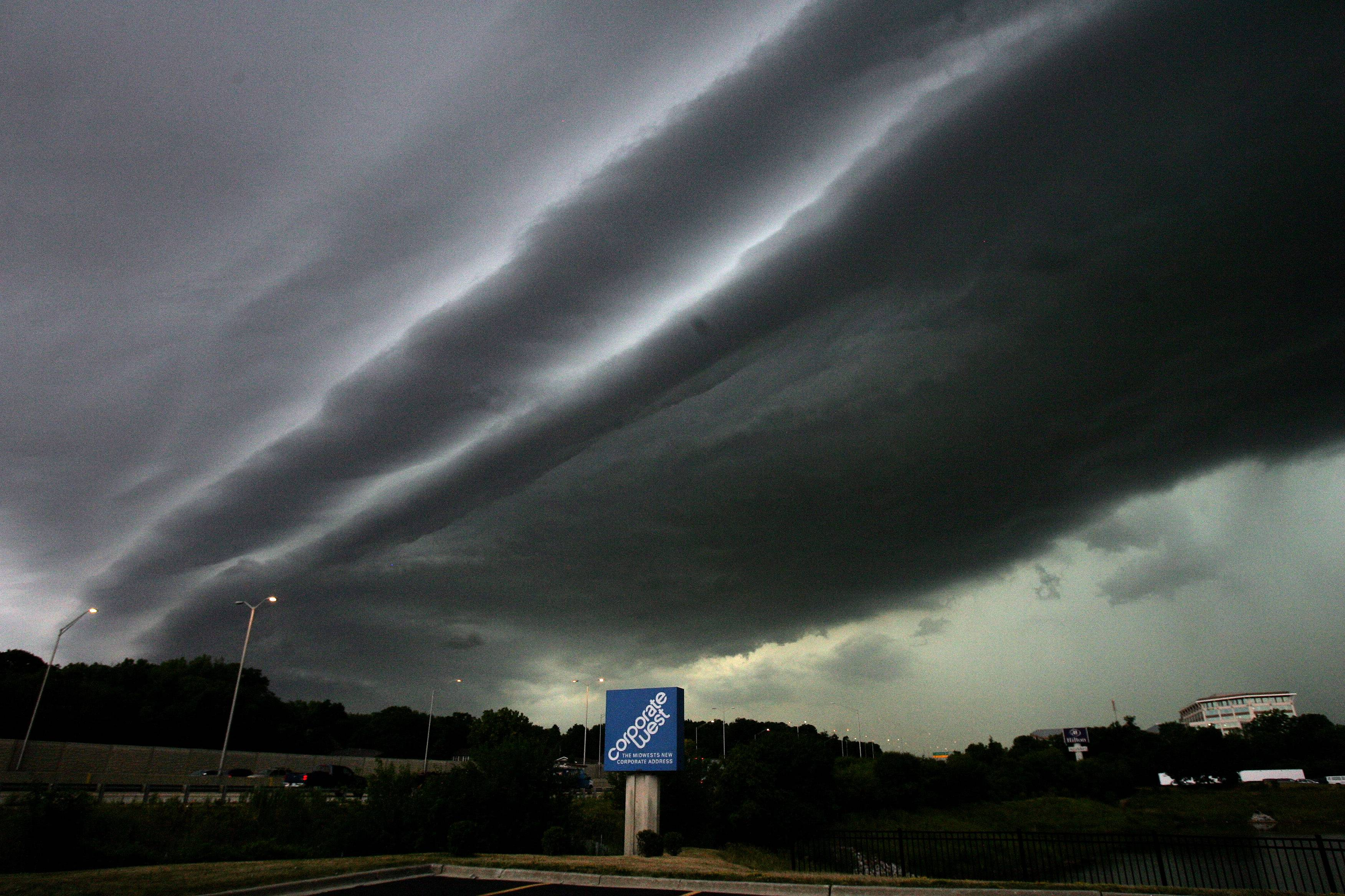 Ominous looking clouds move into Lisle as a storm and much needed rain moved into the Chicago area on Friday morning.