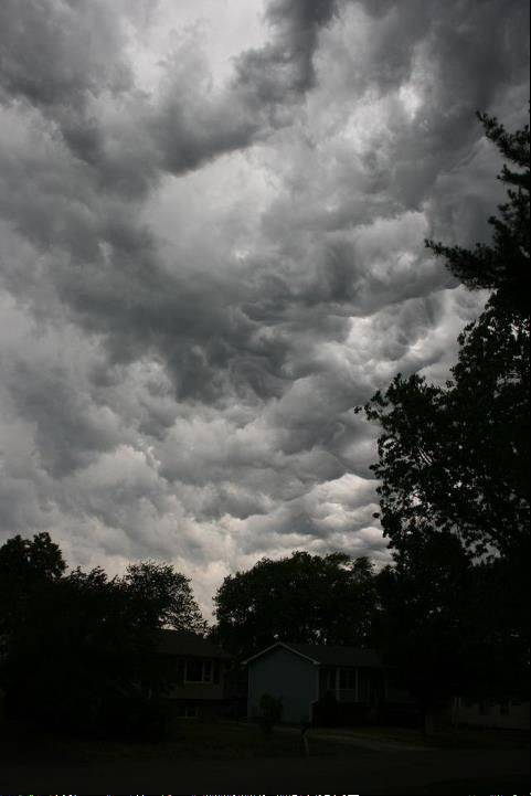 This is the view from Cary, IL at about 11 a.m. on Friday, June 29, 2012