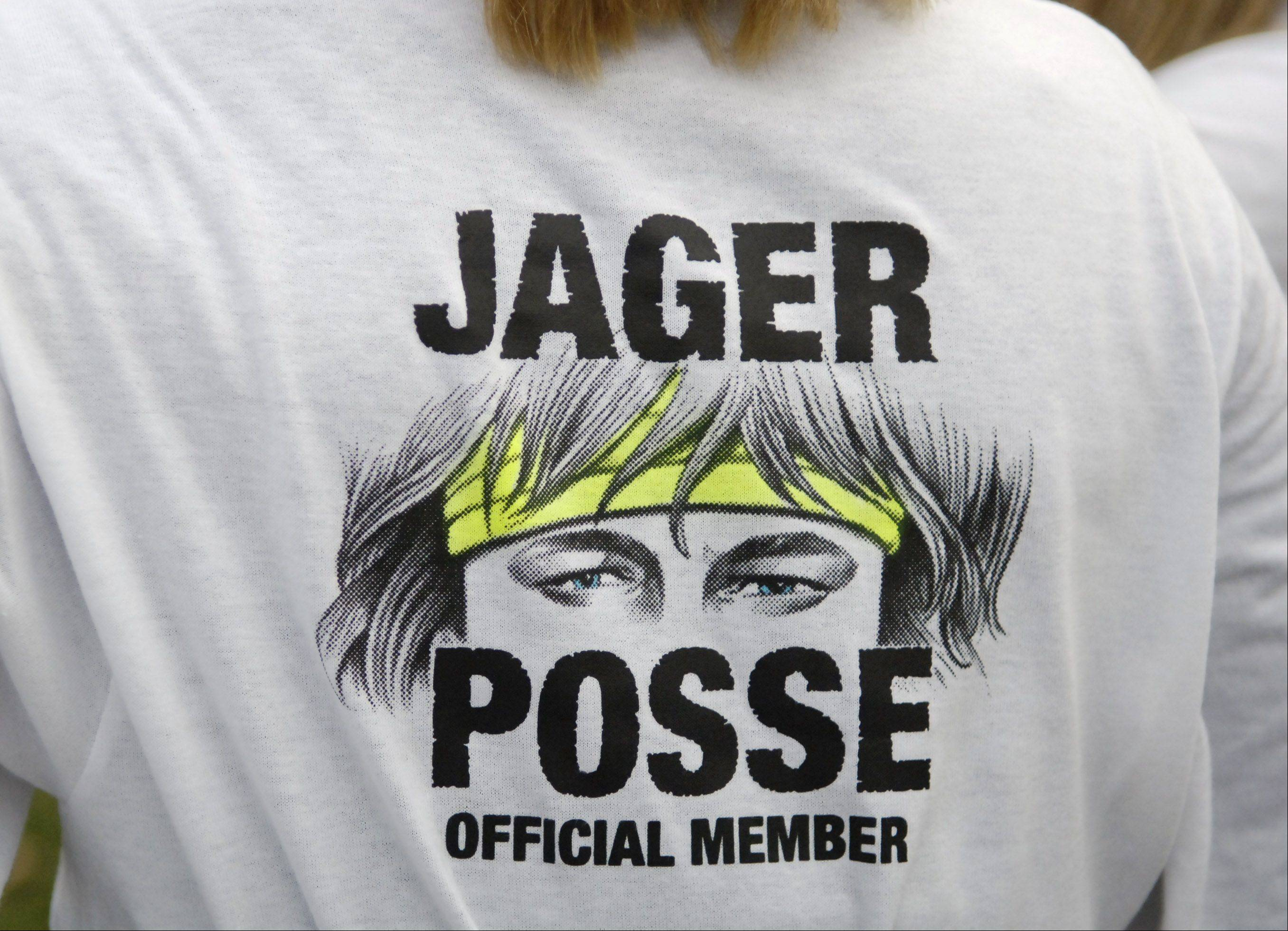 In high school, Evan Jager's hair was his brand. That and his great speed, of course. Friends wore these T-shirts to meets.