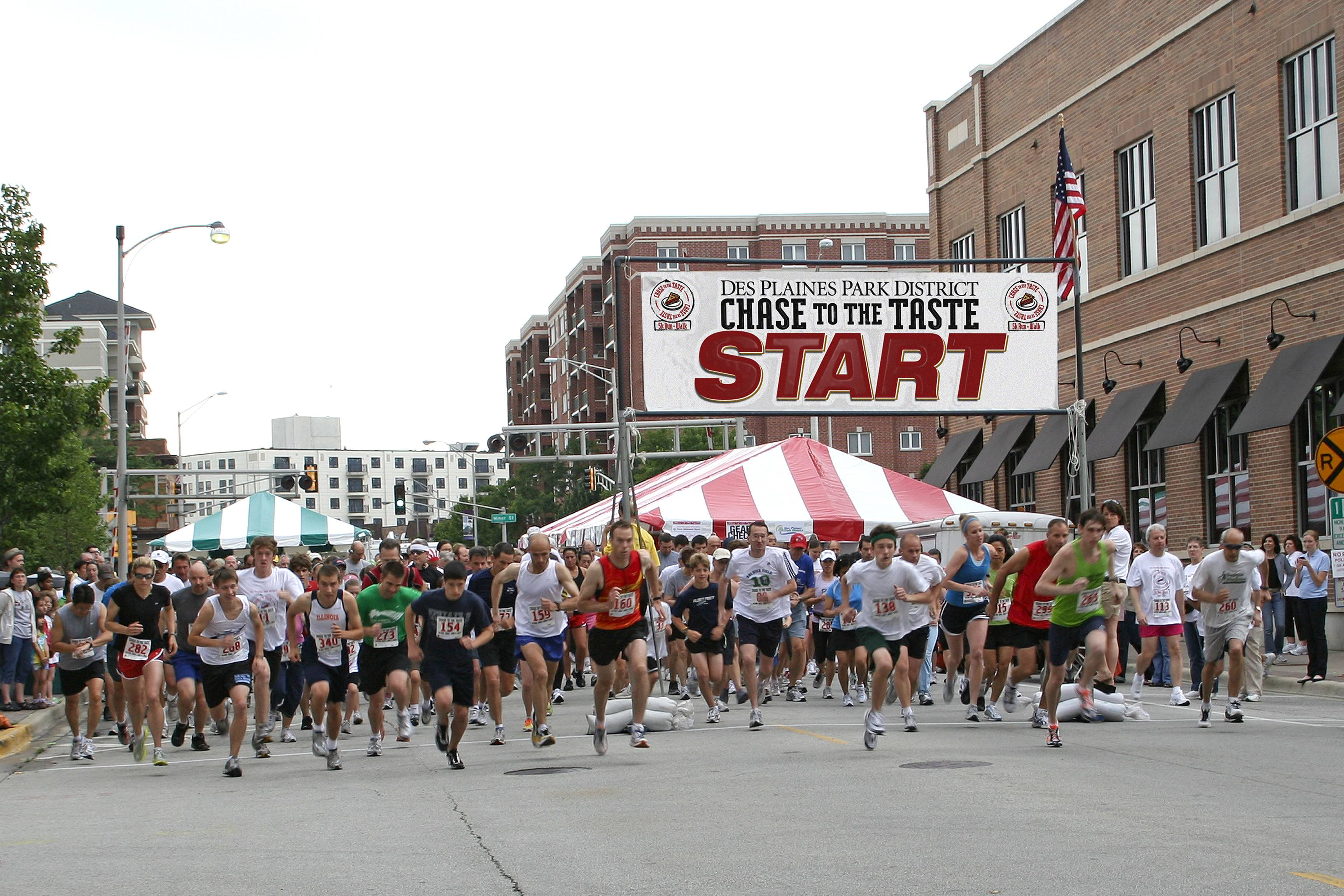 Runners take to the streets in the annual Des Plaines Park District Chase 5K run/walk.