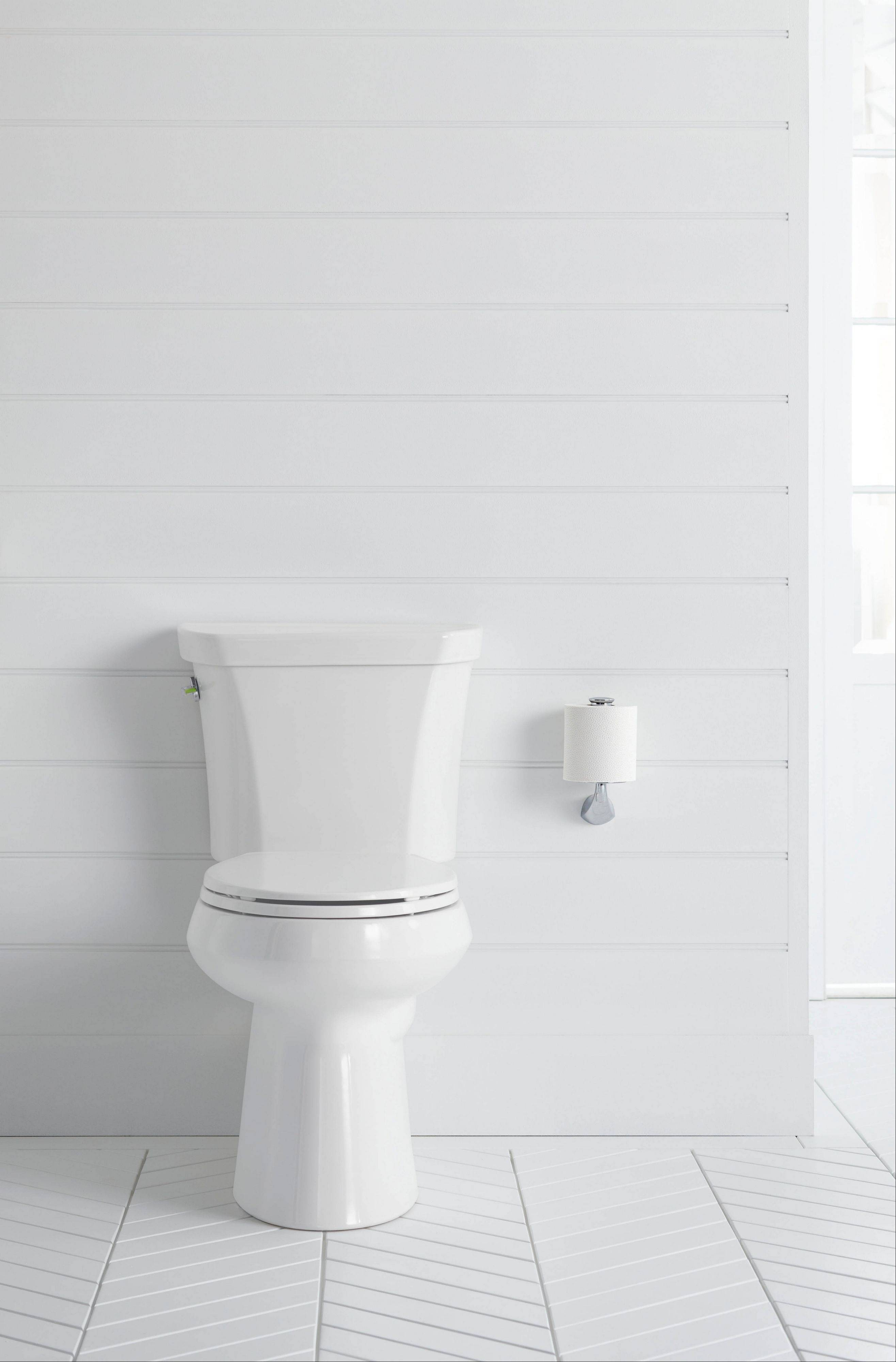 Dual-flush toilets are water-savers that let you pick between a full 1.6-gallon flush and a smaller flush of about 1 gallon.
