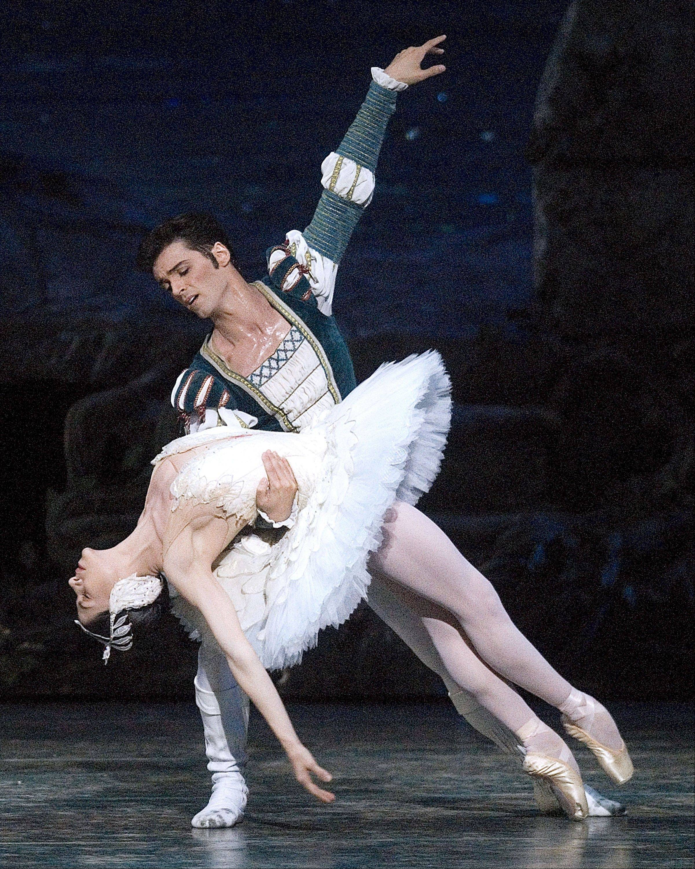 "Paloma Herrera and Angel Corella in ""Swan Lake"" in New York in 2005. After 17 years with ABT, Corella bids farewell this week to his many U.S. fans with one final performance of ""Swan Lake."" He is retiring from ABT to focus on the Barcelona Ballet, the company he founded and directs in Spain."