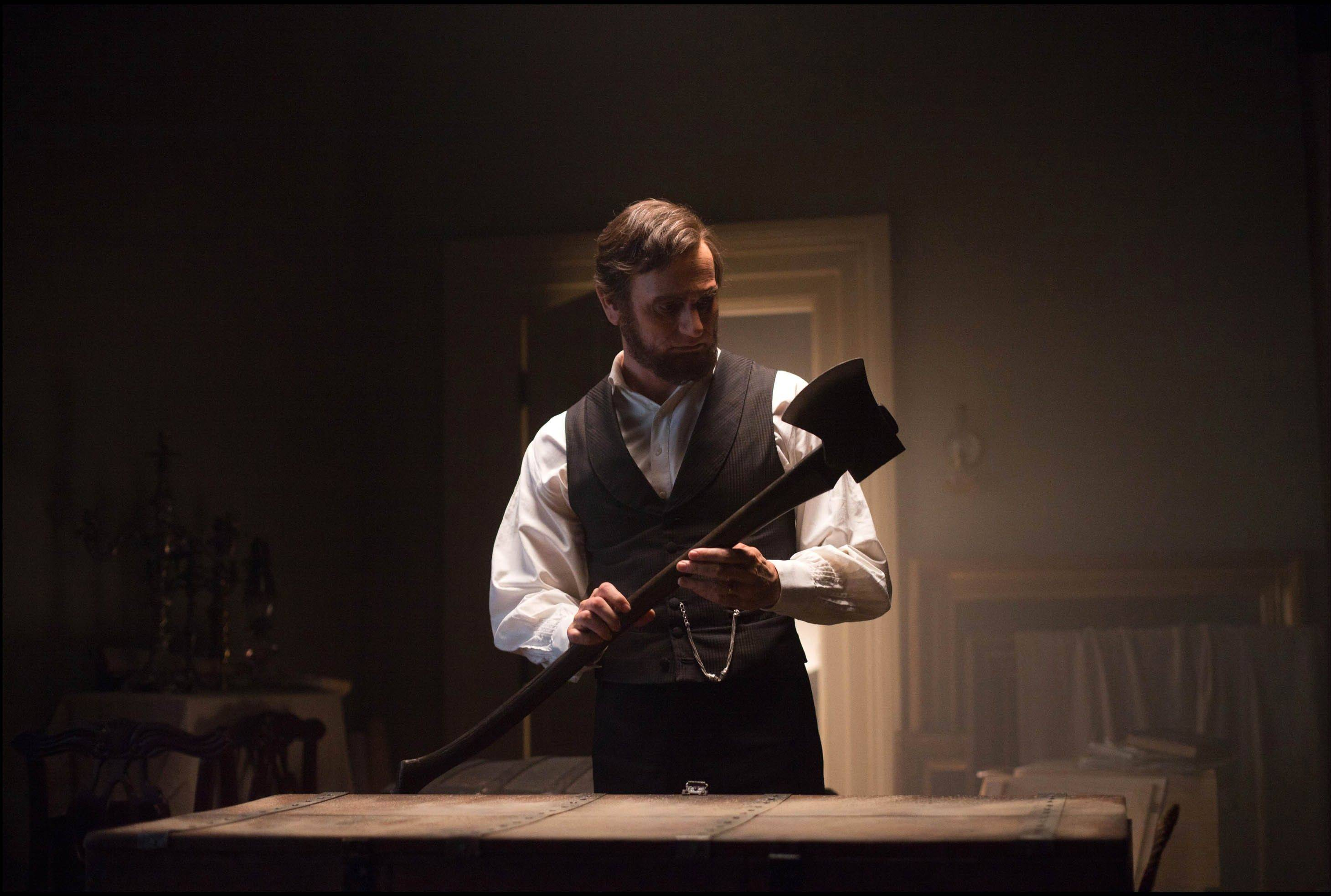 "U.S. President Abraham Lincoln (Benjamin Walker) has an ax to grind with undead citizens sucking the life out of red-blooded American voters in ""Abraham Lincoln: Vampire Hunter."""
