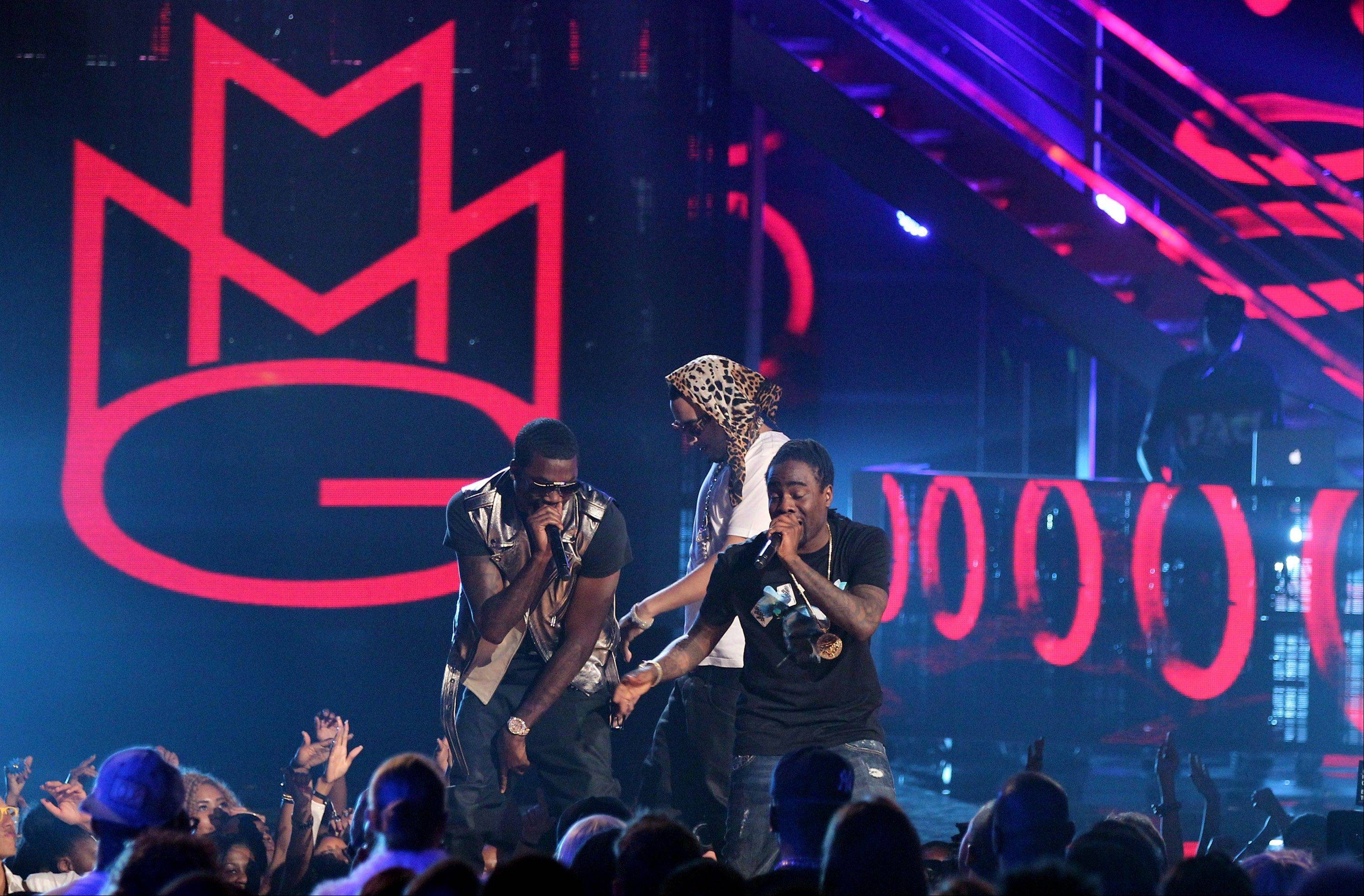 MMG performs at the BET Awards on Sunday in Los Angeles.