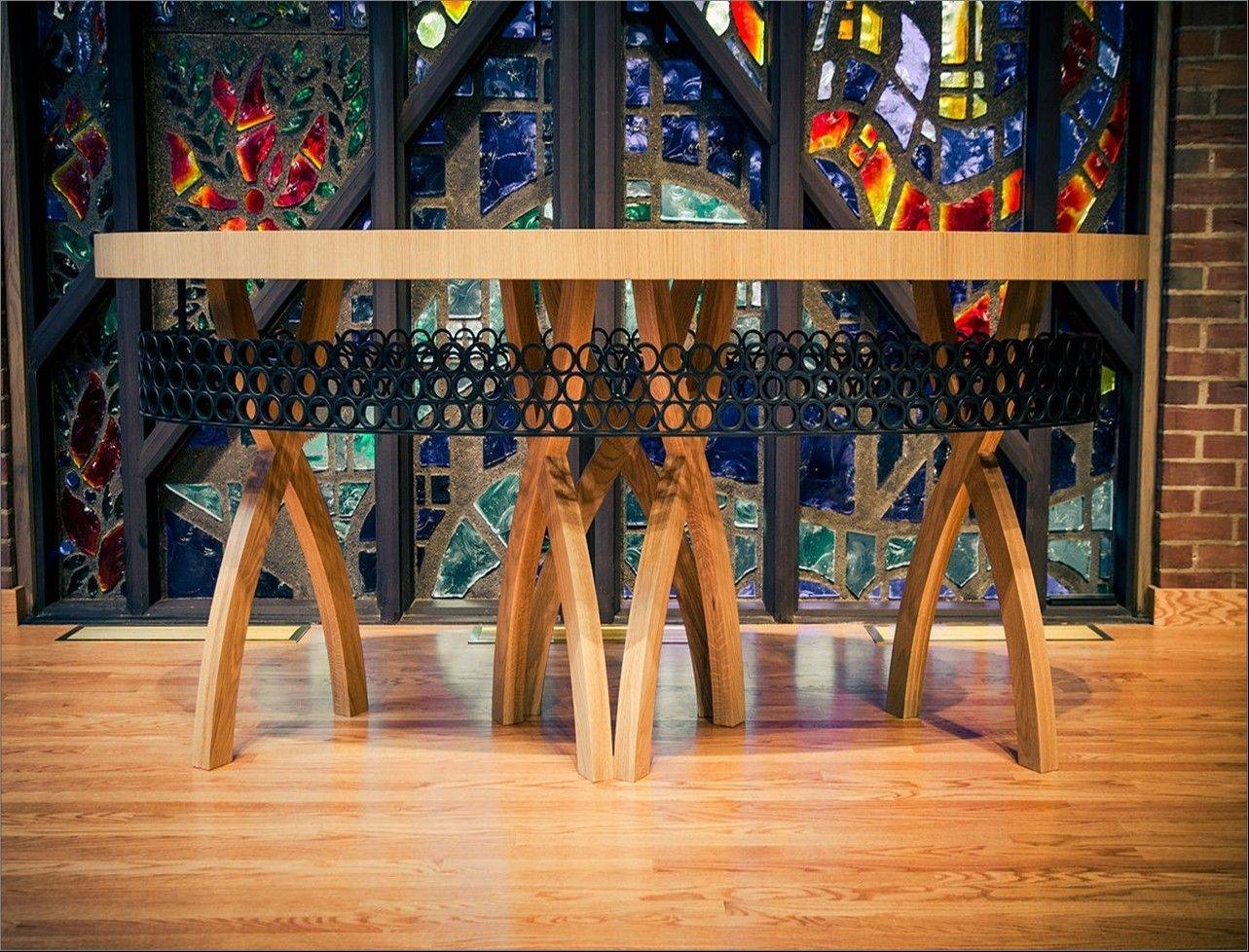Communion table designed by Sara Reich for First United Methodist Church of Arlington Heights.