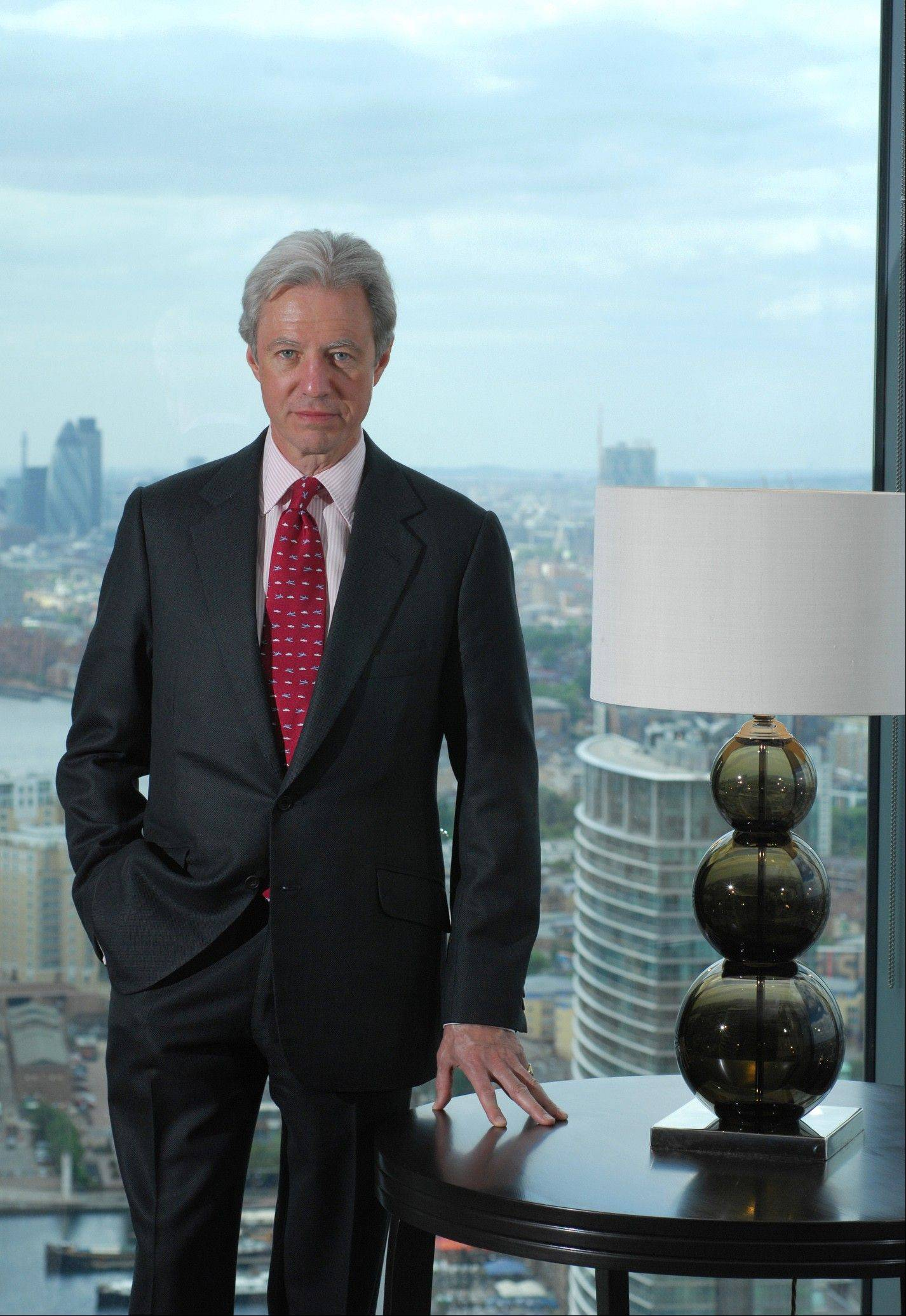 This undated file photo made available by Barclays Banksshows the Chairman of United Kingdom-based Barclays bank Marcus Agius in London. The chairman of Barclays announced his resignation Monday after accepting responsibility for a price-fixing scandal that saw the bank slapped with trans-Atlantic fines of $453 million.