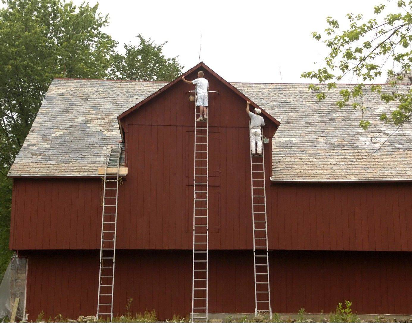 For outside paint jobs, hiring a pro eliminates the need for the homeowner to get up on a ladder.