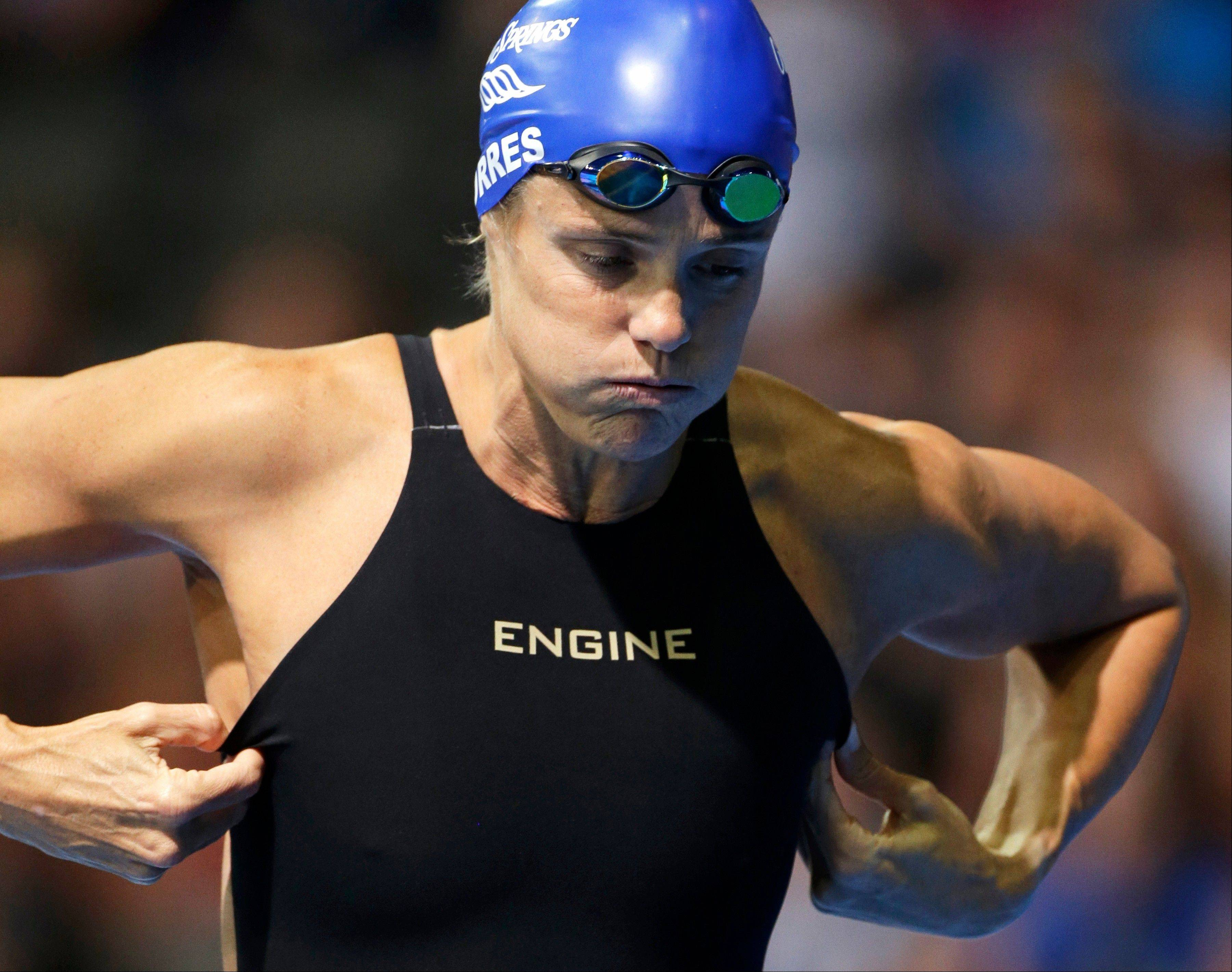 Dara Torres, who was trying to make it to her sixth Olympics, just missed making the U.S. swim team when she came in fourth in a women�s 50-meter freestyle semifinal at the U.S. Olympic swimming trials on Monday in Omaha, Neb.
