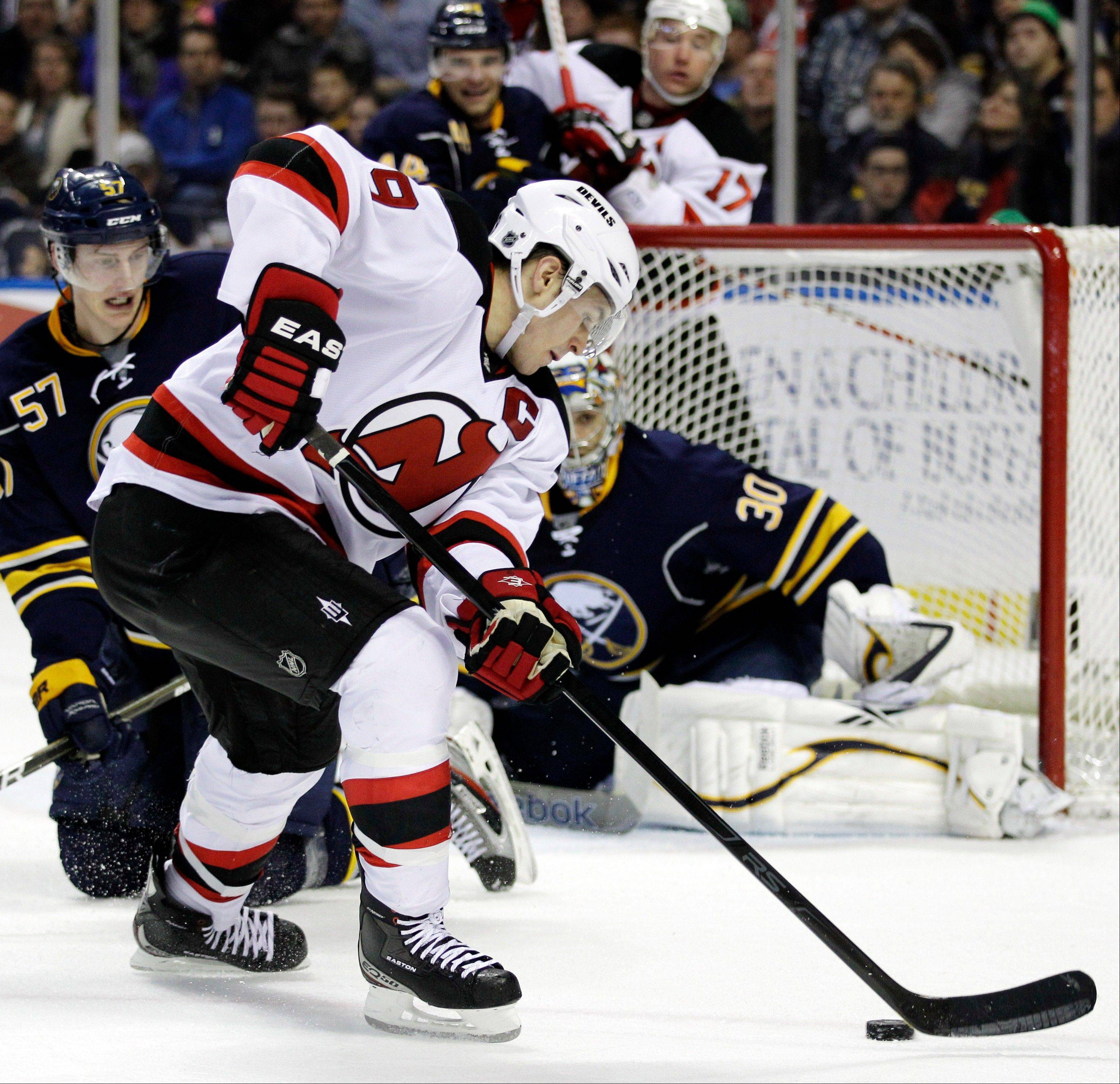 New Jersey Devils captain Zach Parise (9) says he needs more time to decide where he�ll play next. It is believed the Blackhawks, along with Pittsburgh, Detroit, New Jersey, Minnesota and Philadelphia, are on Parise�s list of possible teams.