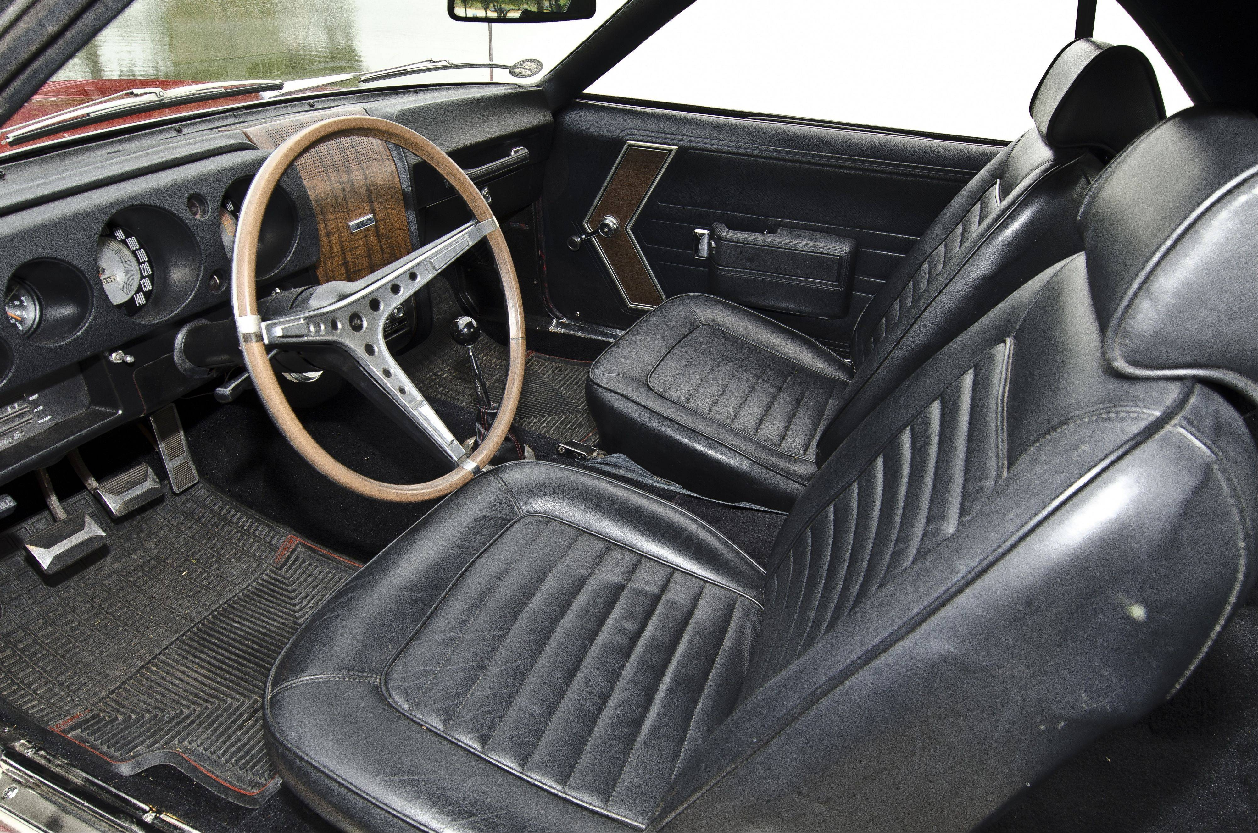 The interior was in pretty good shape in 1993 when More purchased the AMC AMX in West Chicago.