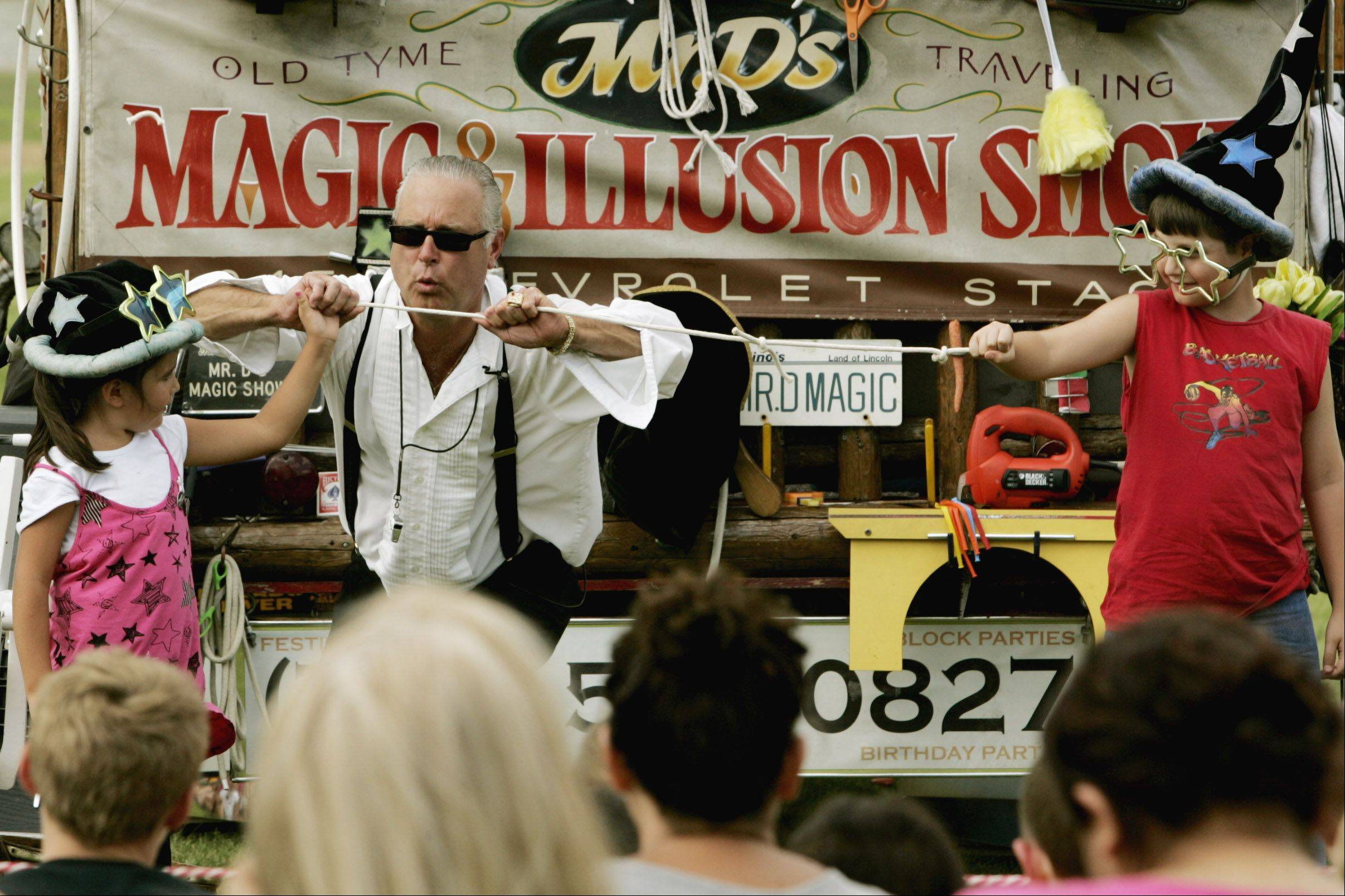Mr. D's Magic shows will return to LibertyFest in Bensenville on Wednesday. The event also includes music, a parade and fireworks.